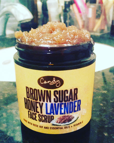 4oz. Brown Sugar Honey Lavender Face Scrub
