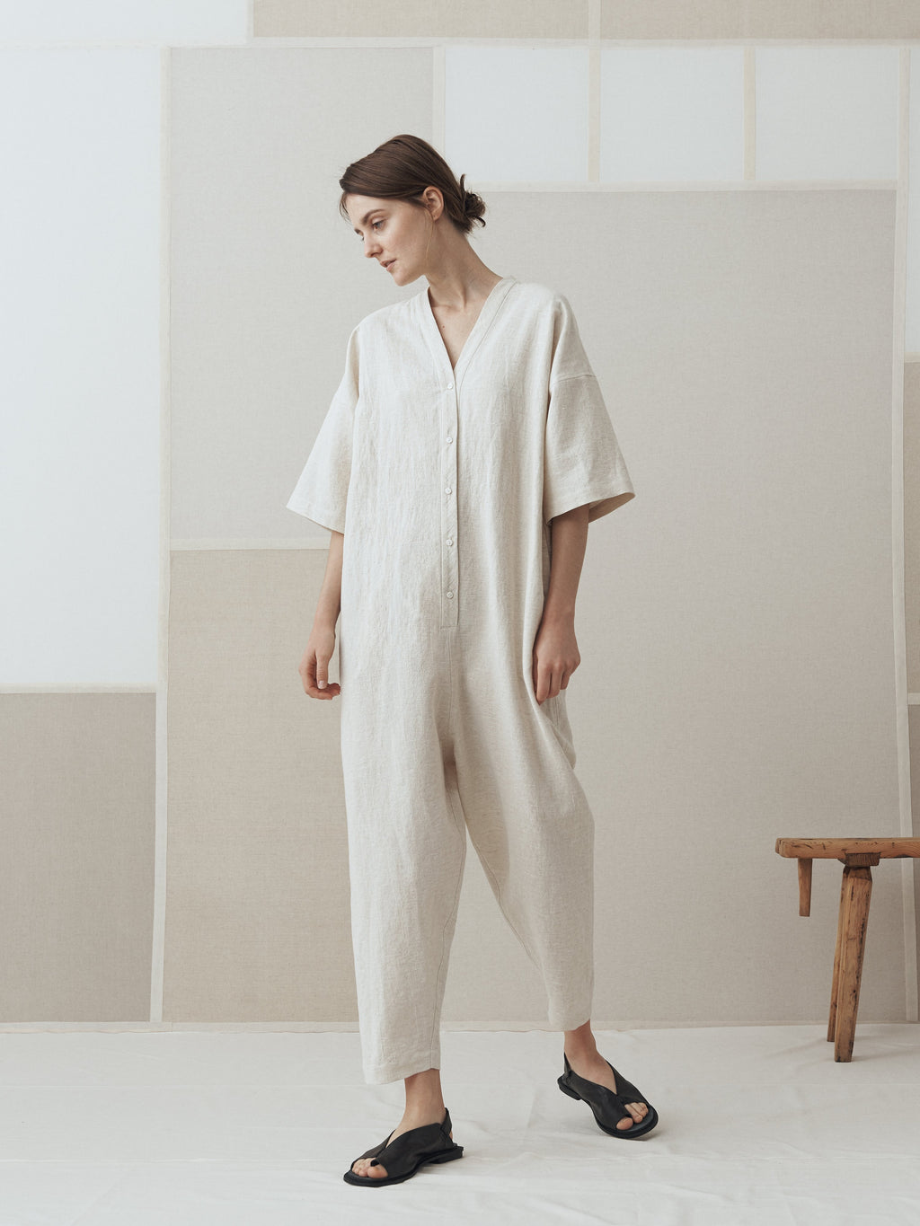 Namu Shop - muku Li / Co Jumpsuit in Beige