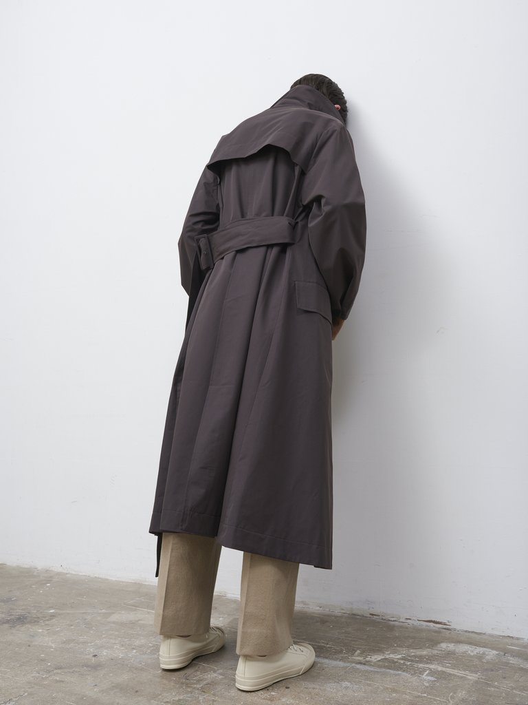 Namu Shop - Studio Nicholson Angstrom Rain Coat - Dark Brown
