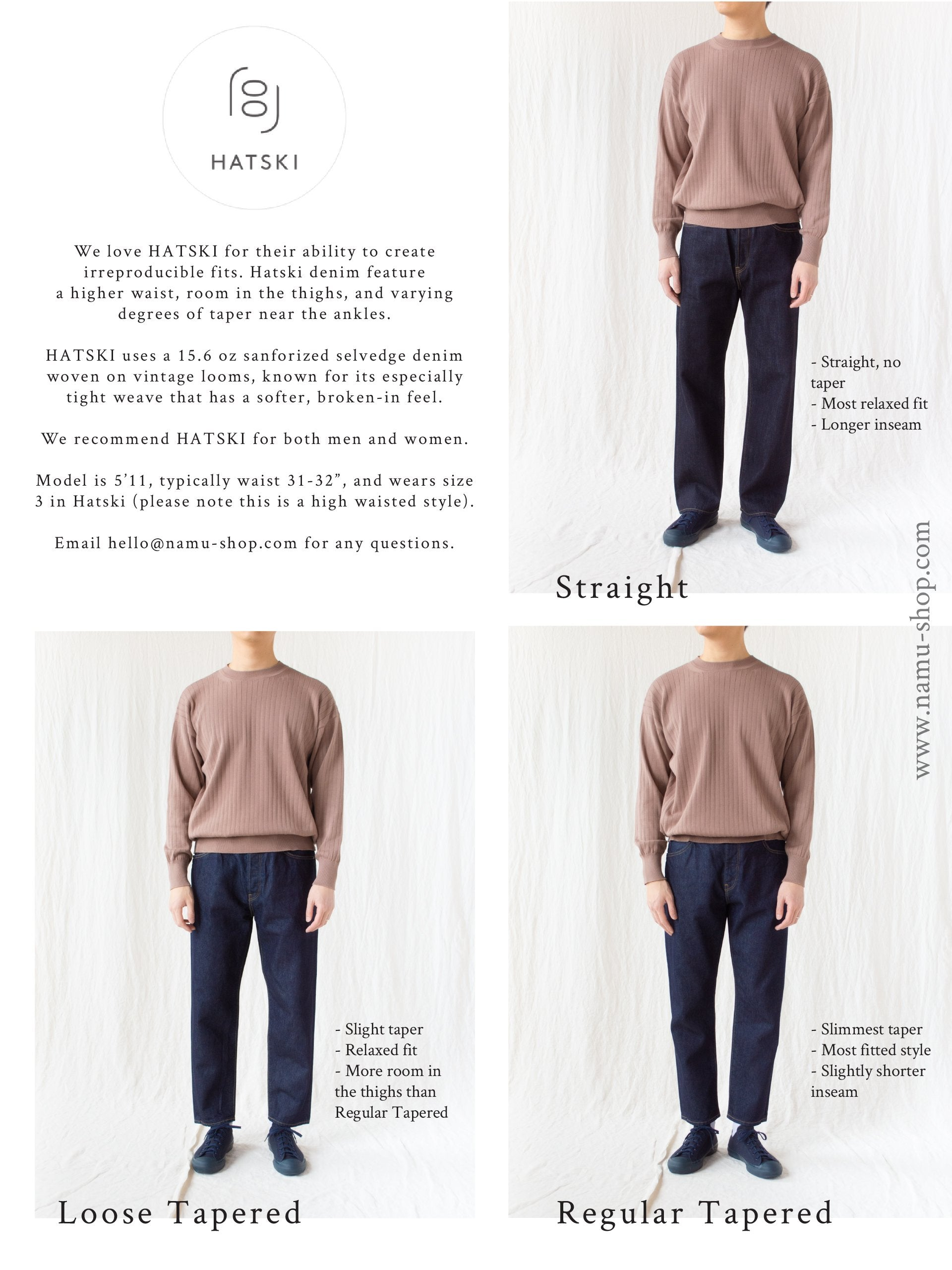 Namu Shop - Hatski Straight Denim - One Wash