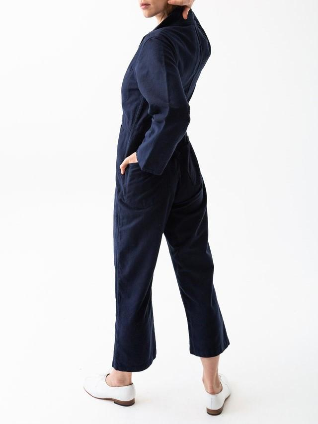 Namu Shop - Caron Callahan Fincher Jumpsuit - Navy Cotton Twill