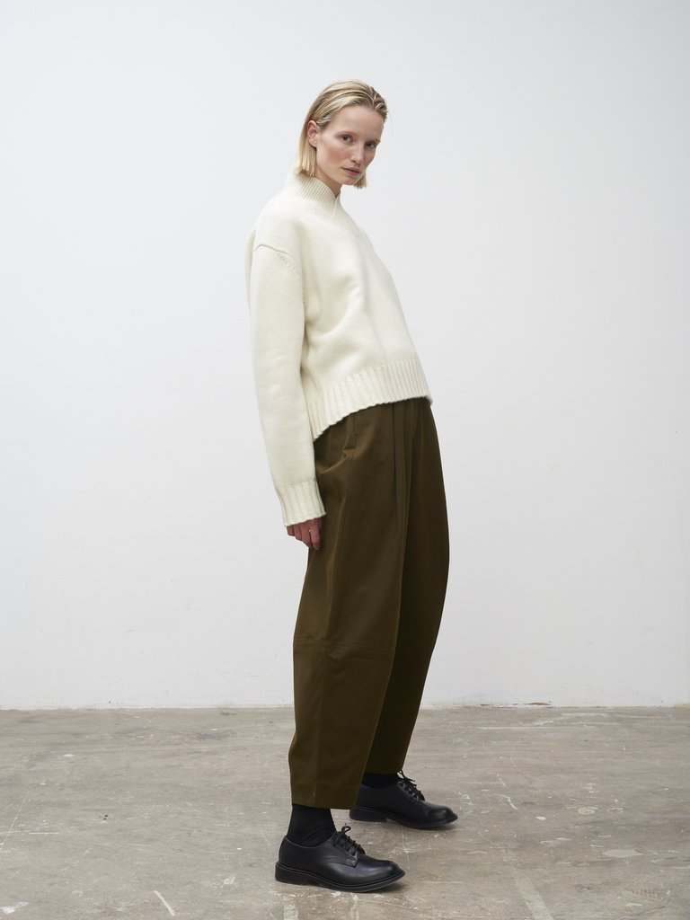 Namu Shop - Studio Nicholson Chi Volume Pleat Pants - Olive