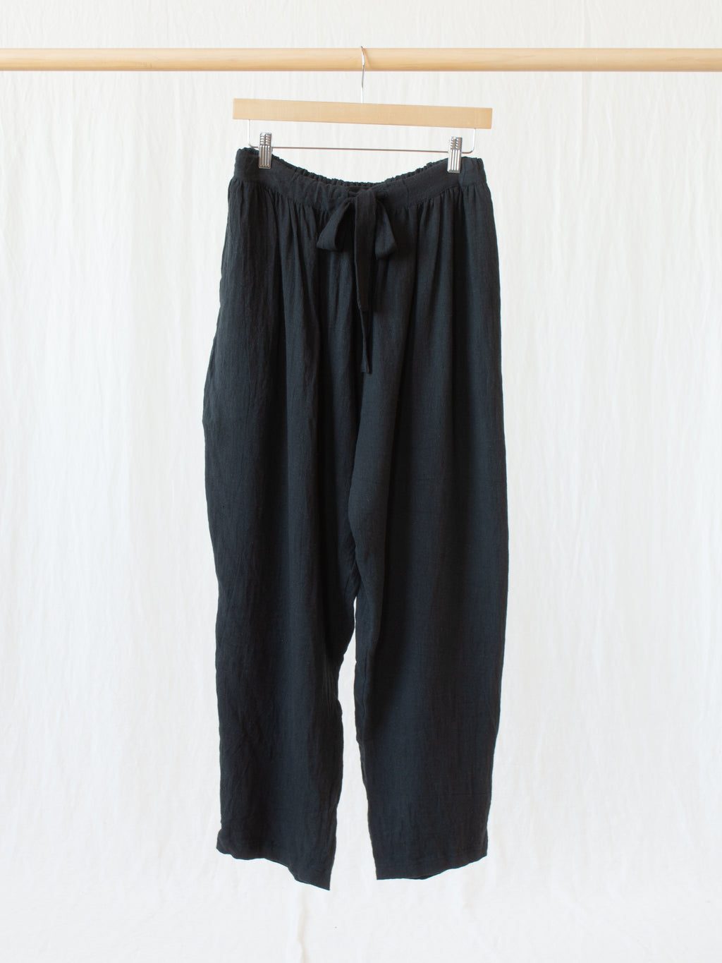 Namu Shop - Ichi Antiquites AZUMADAKI Linen Pants - Black