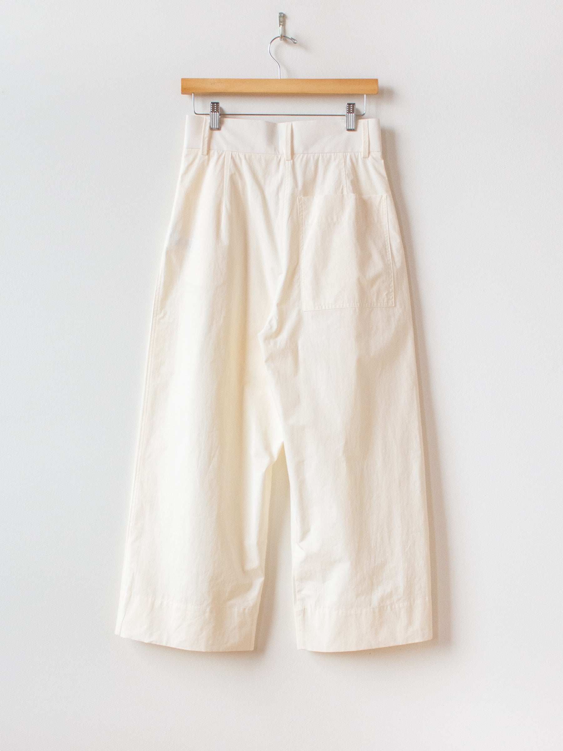 Greta Powder Cotton Pant - Milk