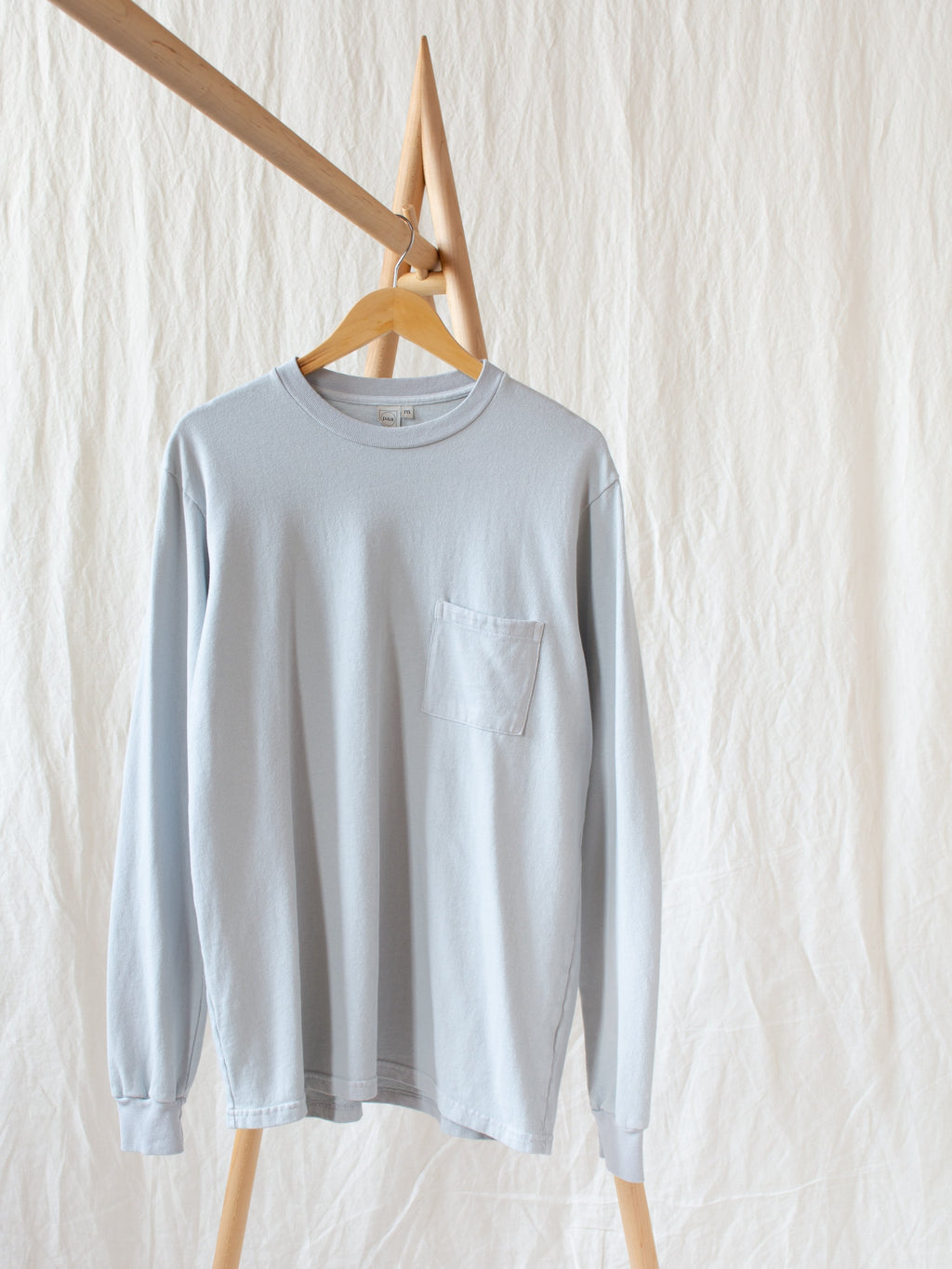 LS Pocket Tee - Ice Gray