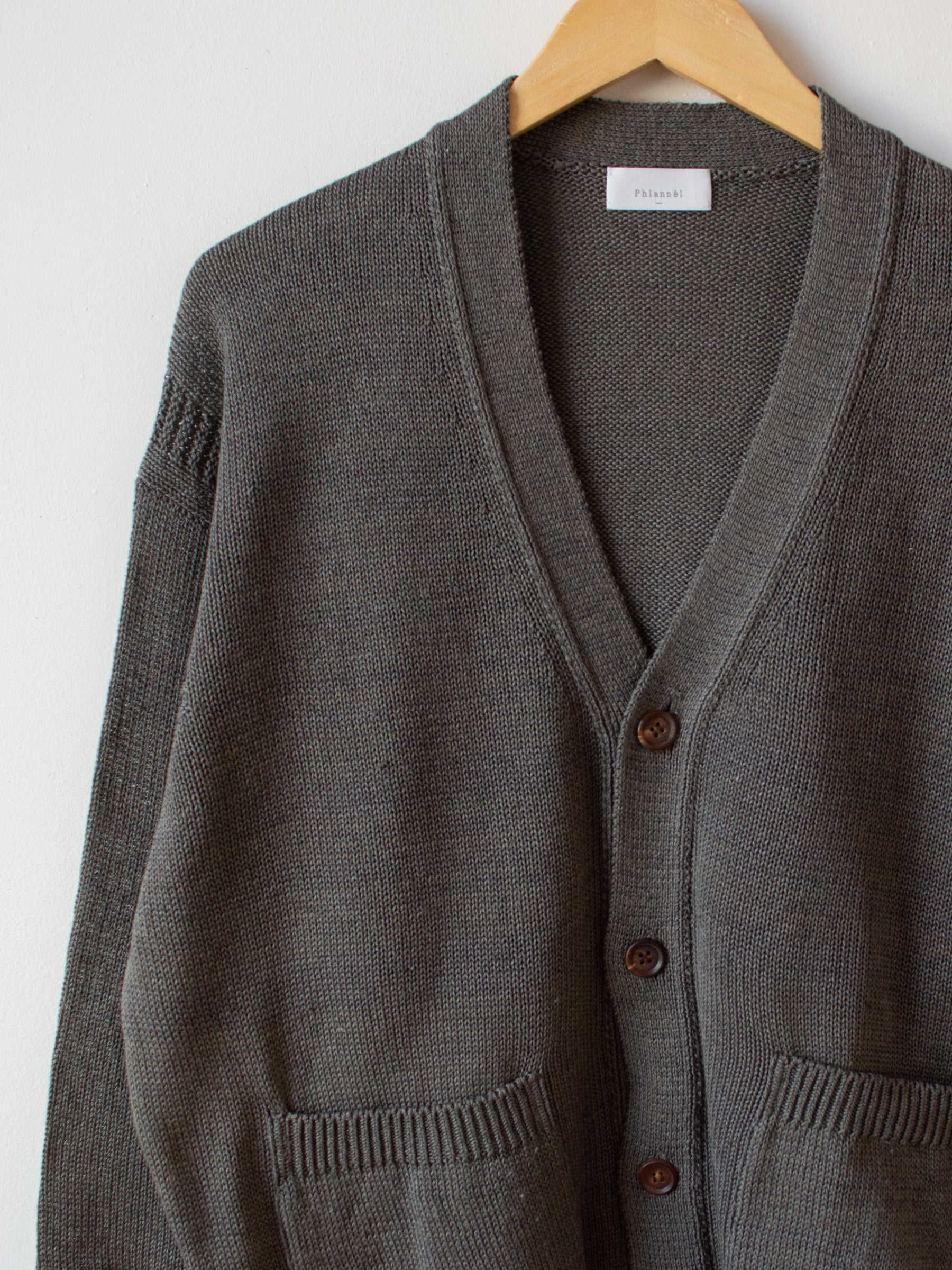 Cotton Linen Guernsey Cardigan