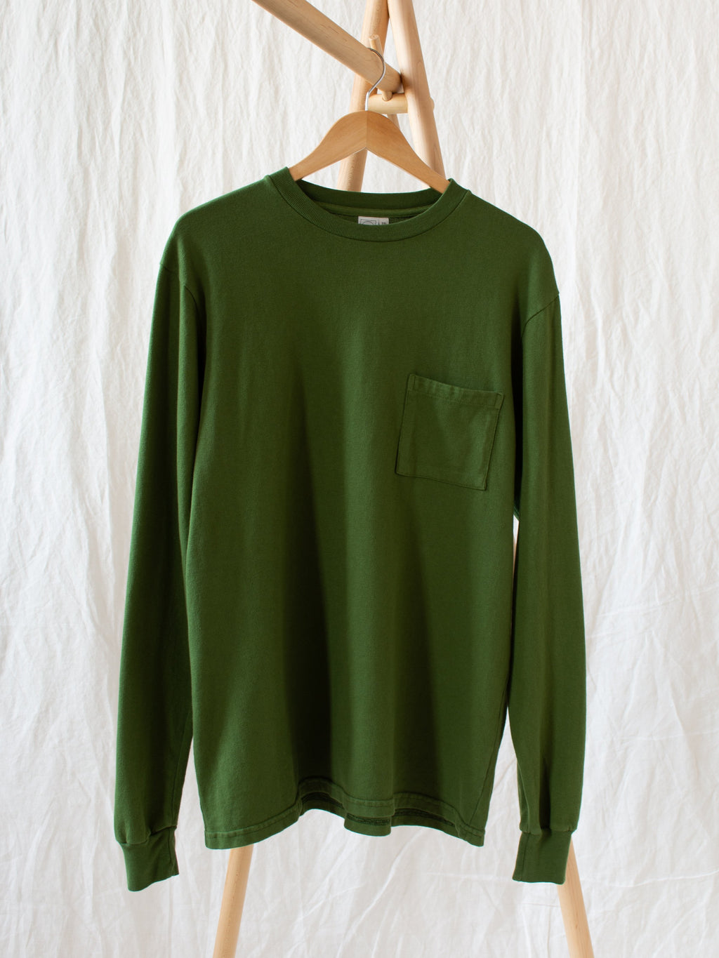 LS Pocket Tee - Moss