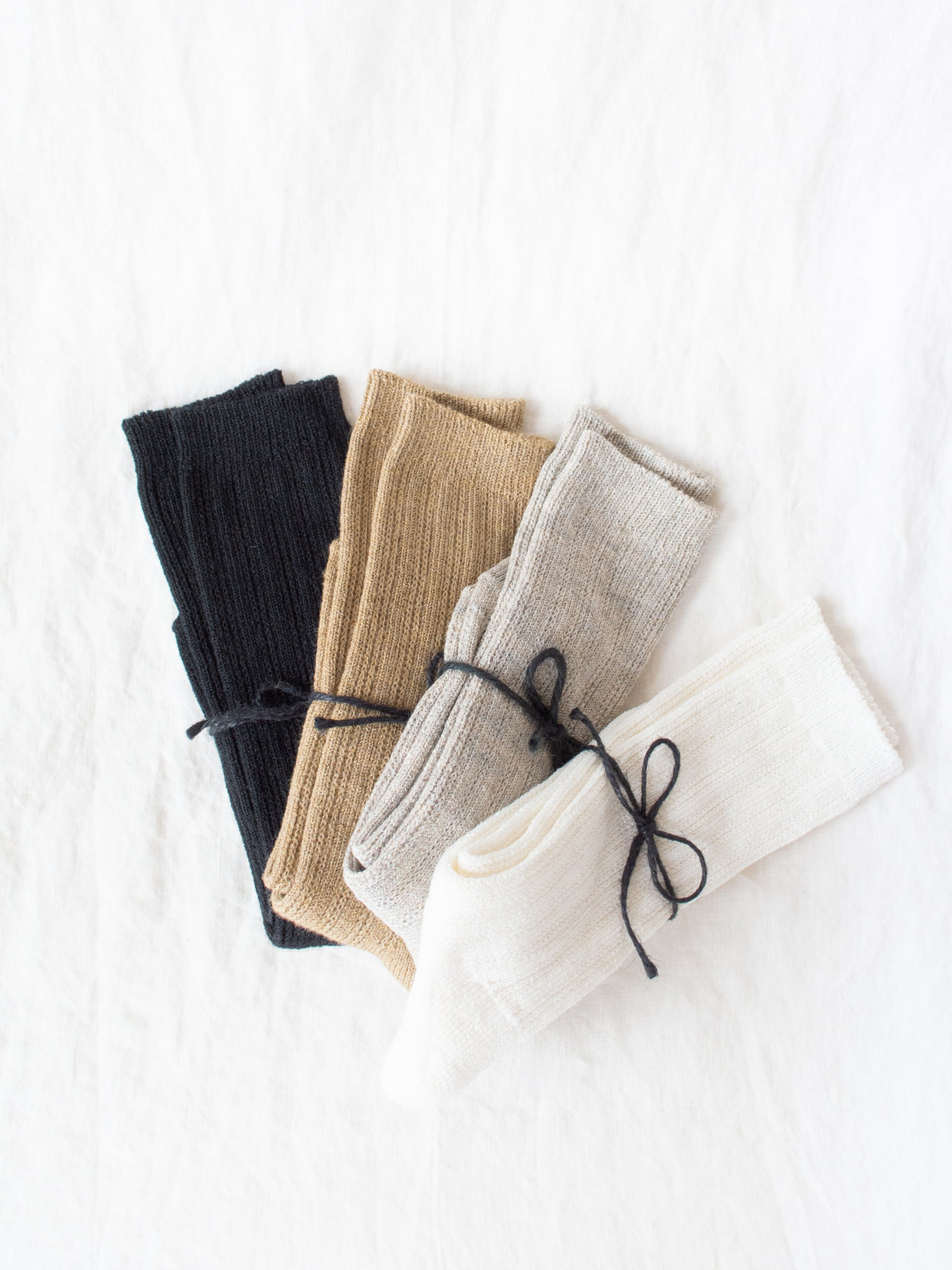 Linen Pattern Socks - 4 Colors