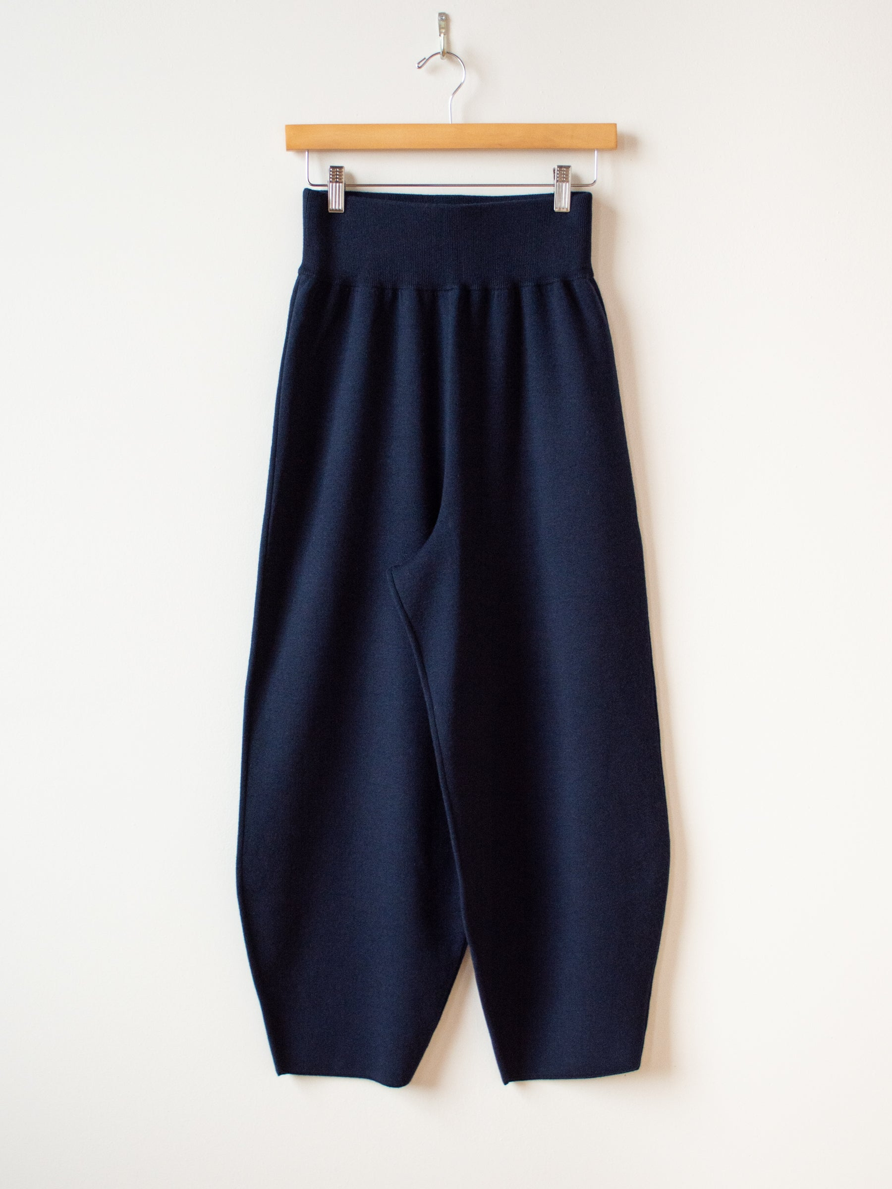 Moura Sculpted Wool Cashmere Trouser - Navy