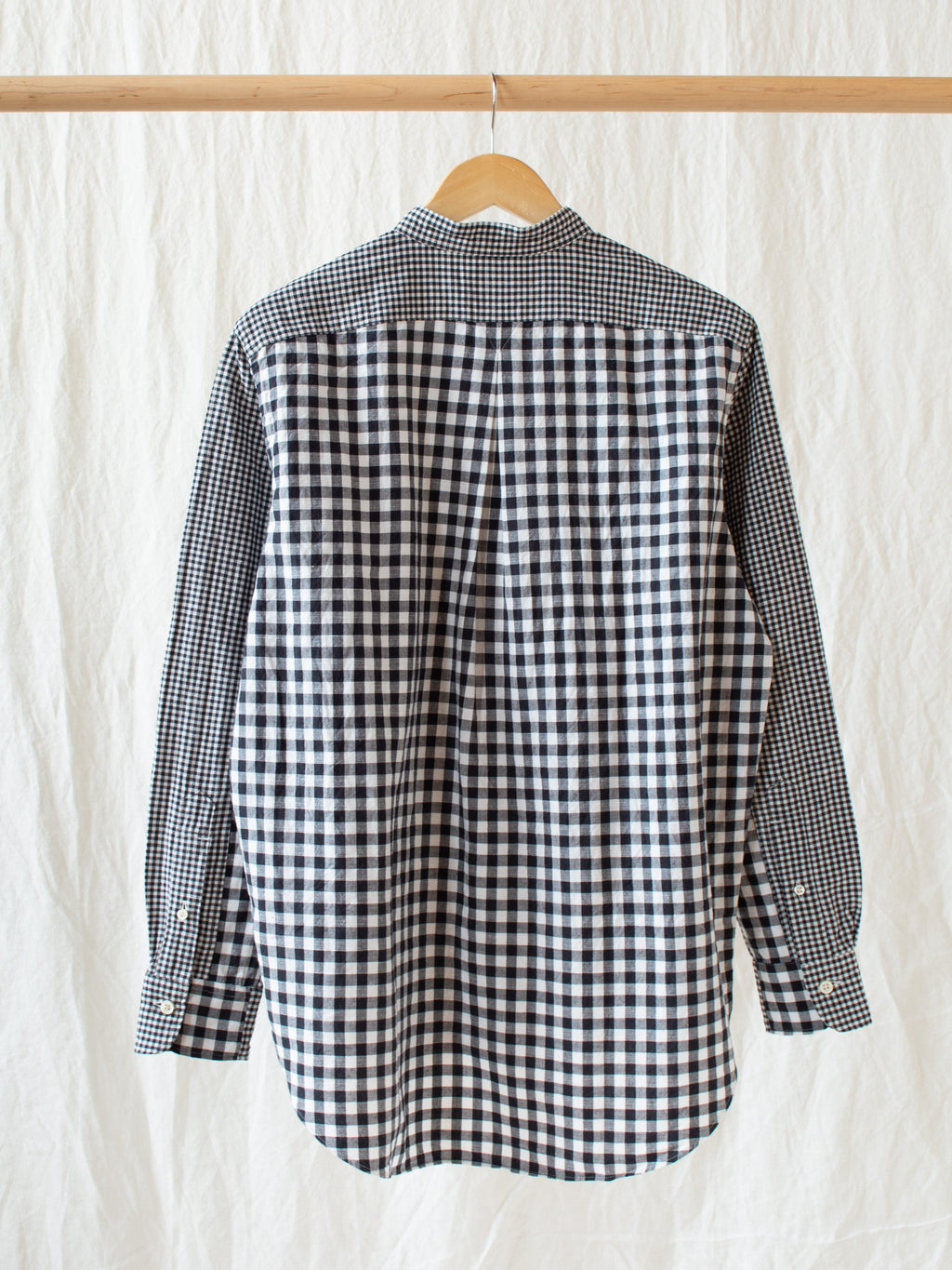 Stand Combi Shirt - Black Check