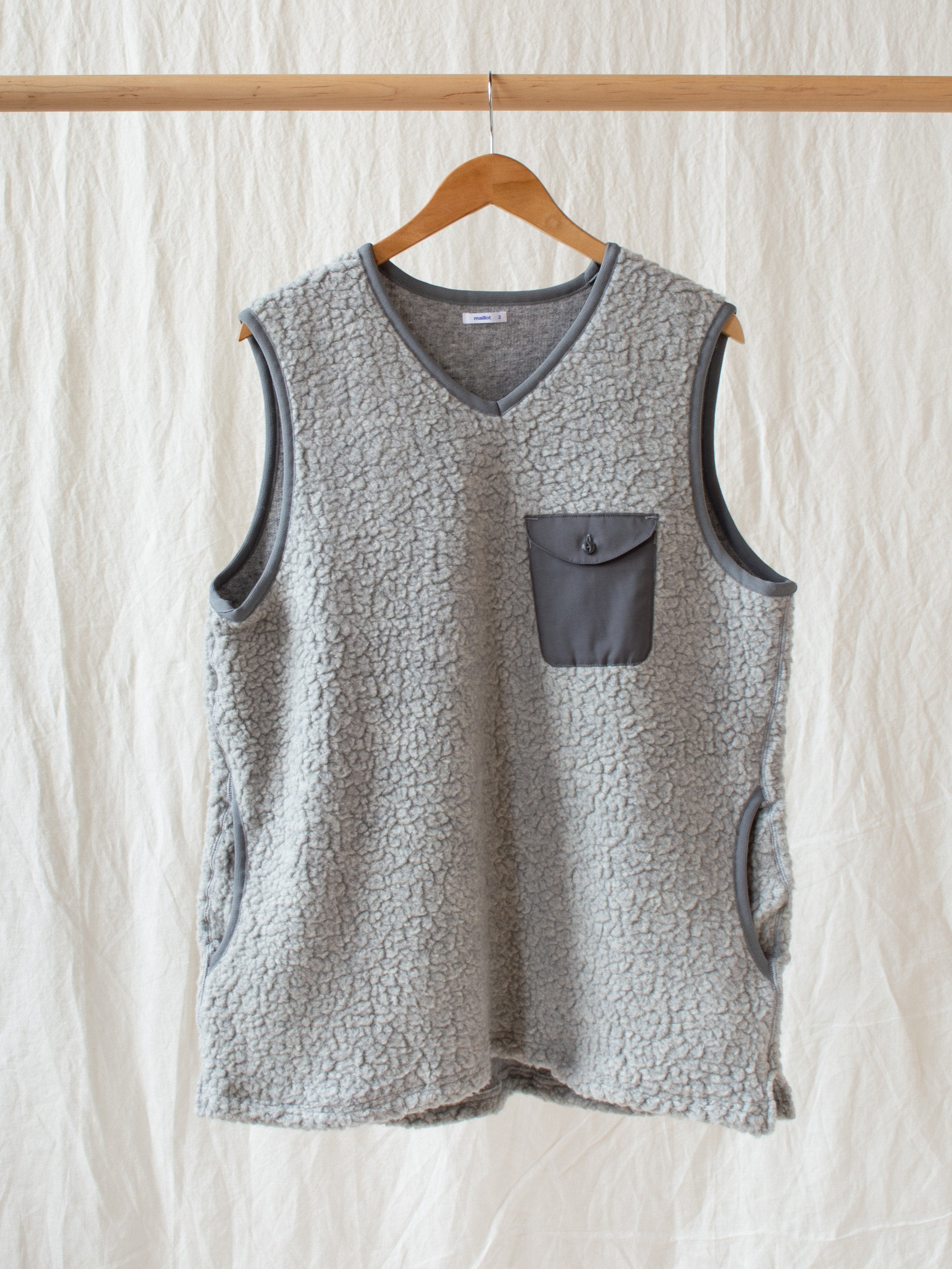 Namu Shop - Maillot Wool Boa Piping Vest
