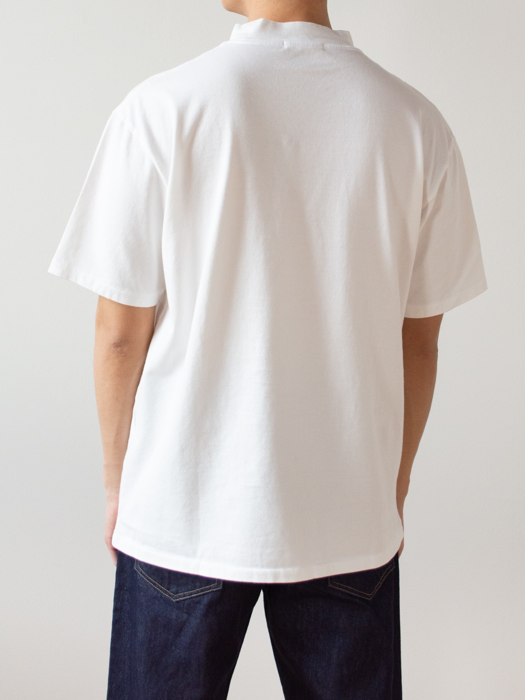 Mock Neck Tee - White