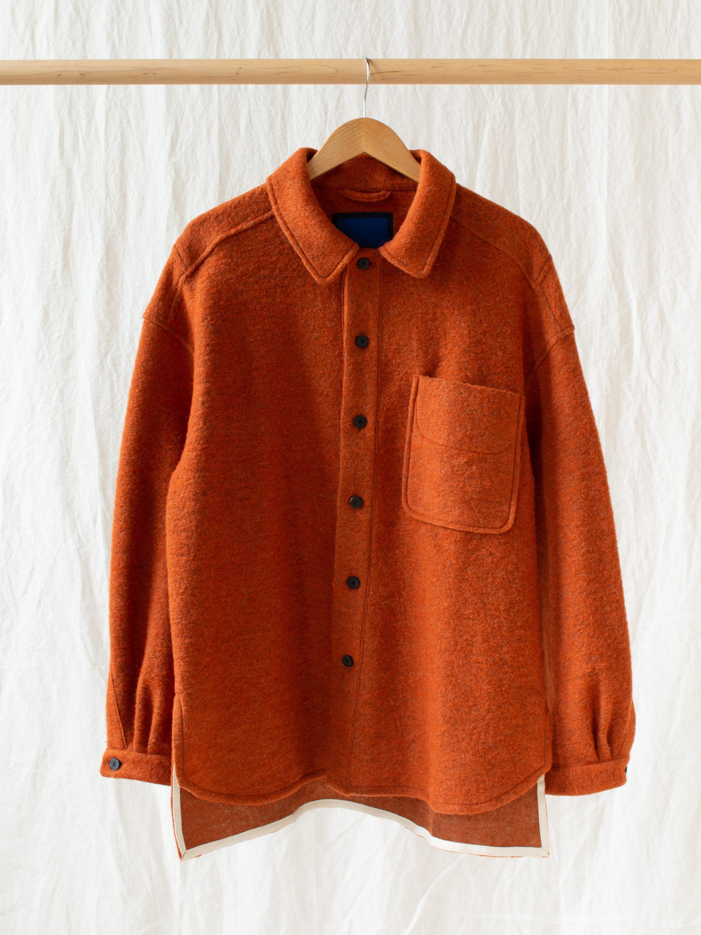 Namu Shop - Document Sliba Wool Shirt - Orange