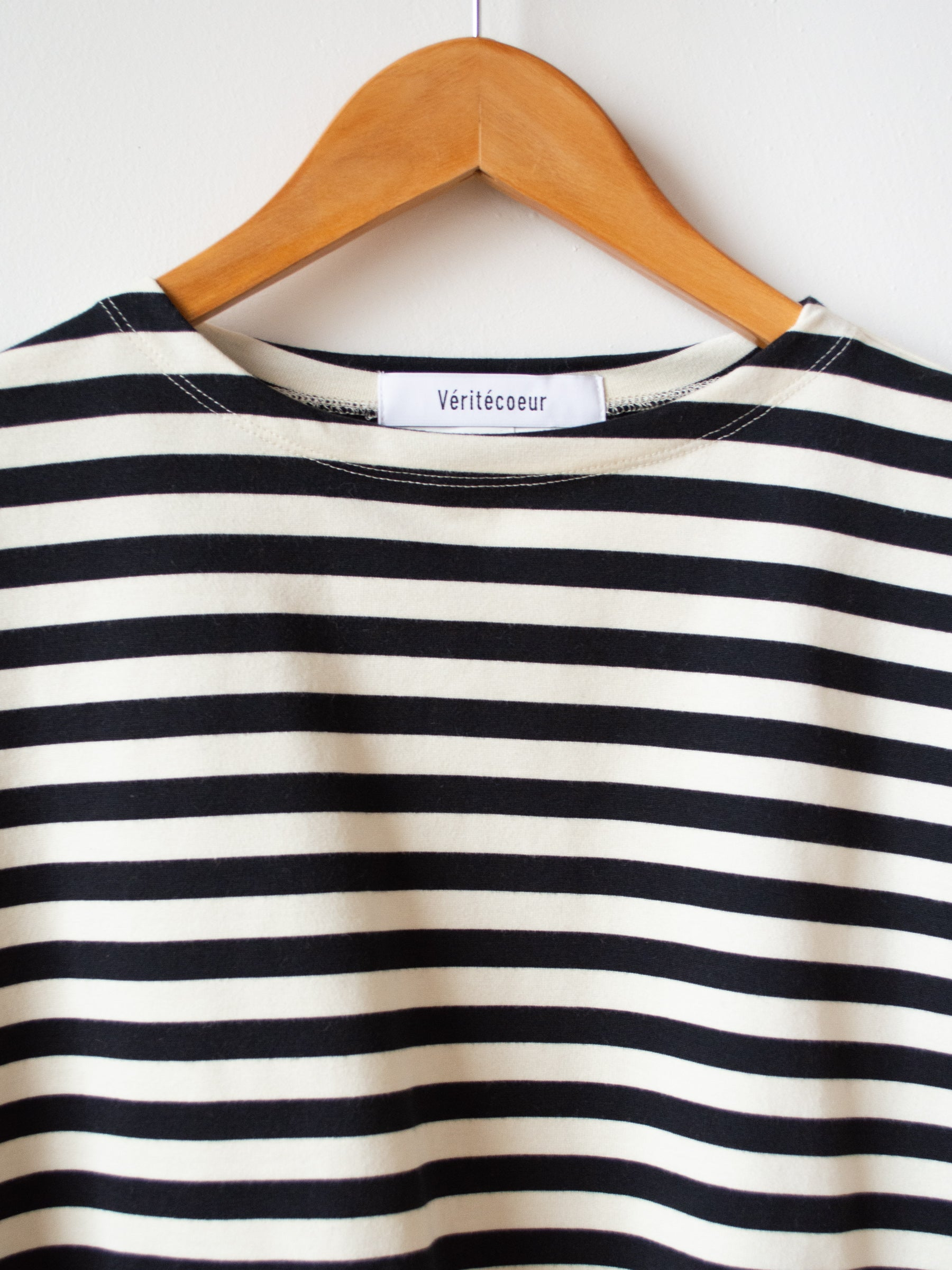 Striped Tee - Sand x Black