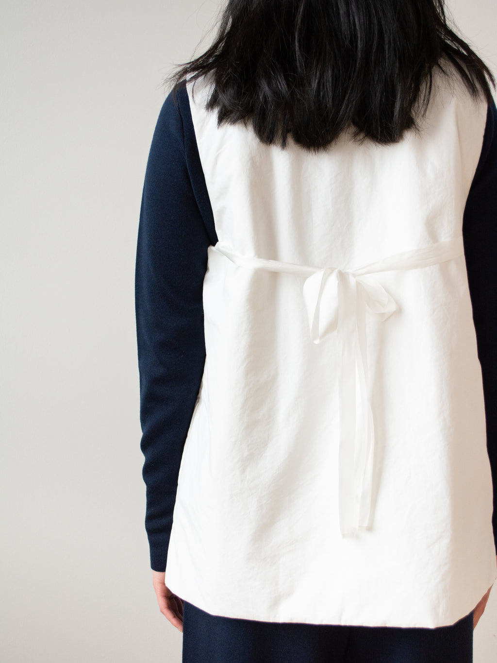 Typewriter Cotton Padded Vest - White