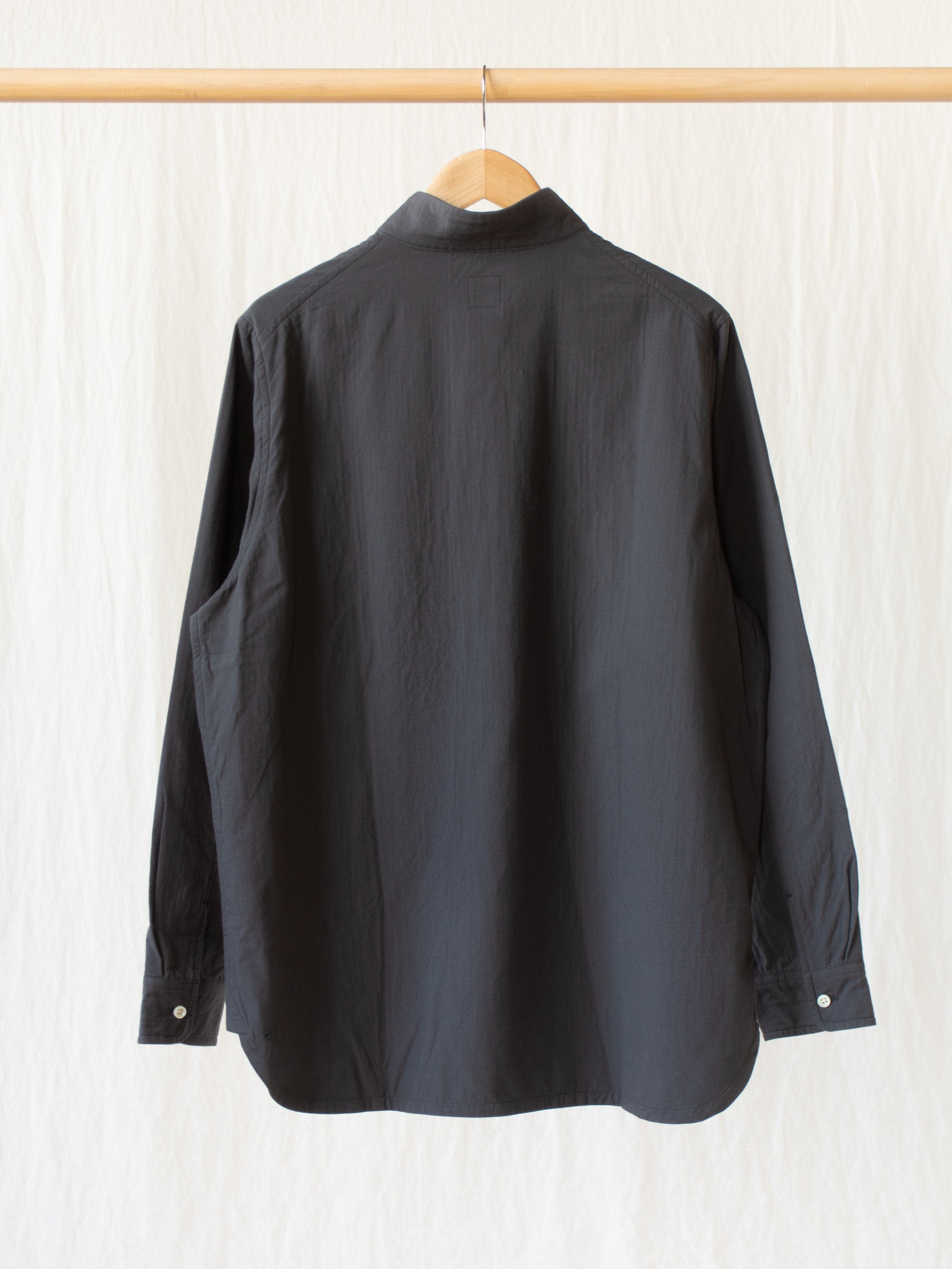Namu Shop - Maillot Double Gauze High Neck Shirt Jacket - Charcoal