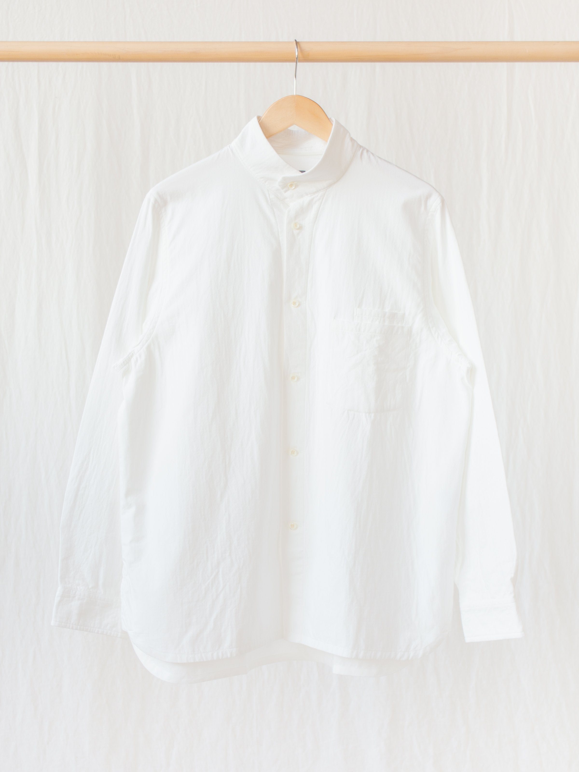 Namu Shop - Maillot Double Gauze High Neck Shirt Jacket - White