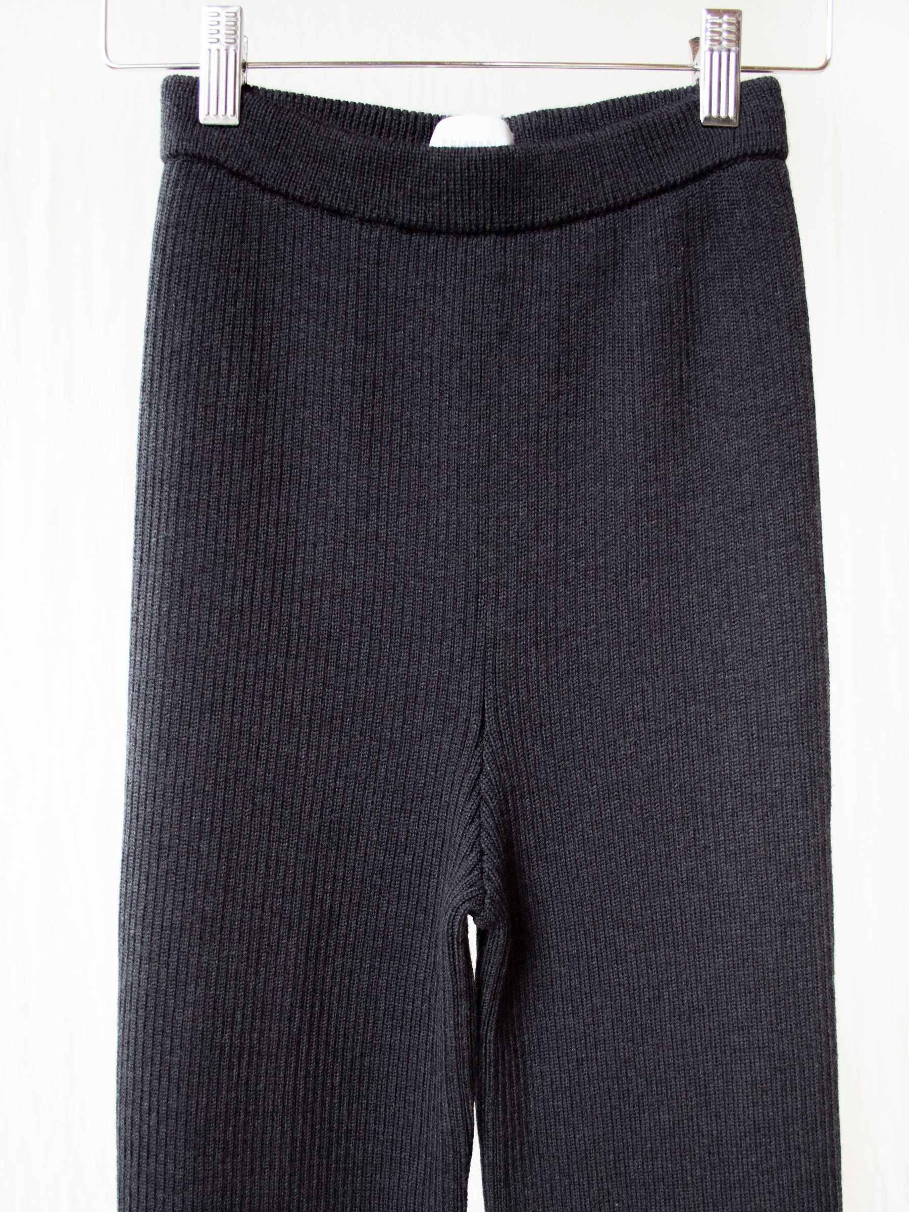 Wool Rib Knit Pants