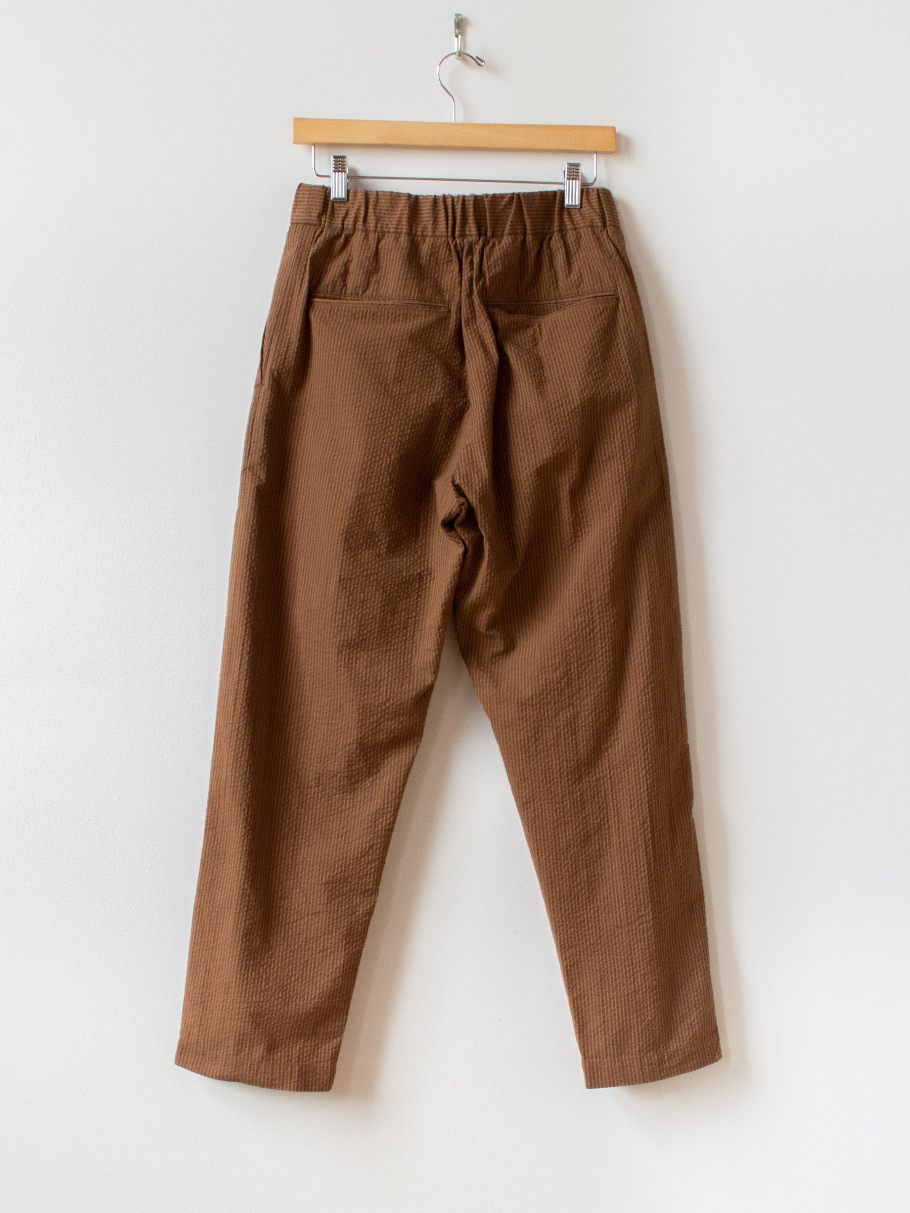 Seersucker Easy Pants - Brown