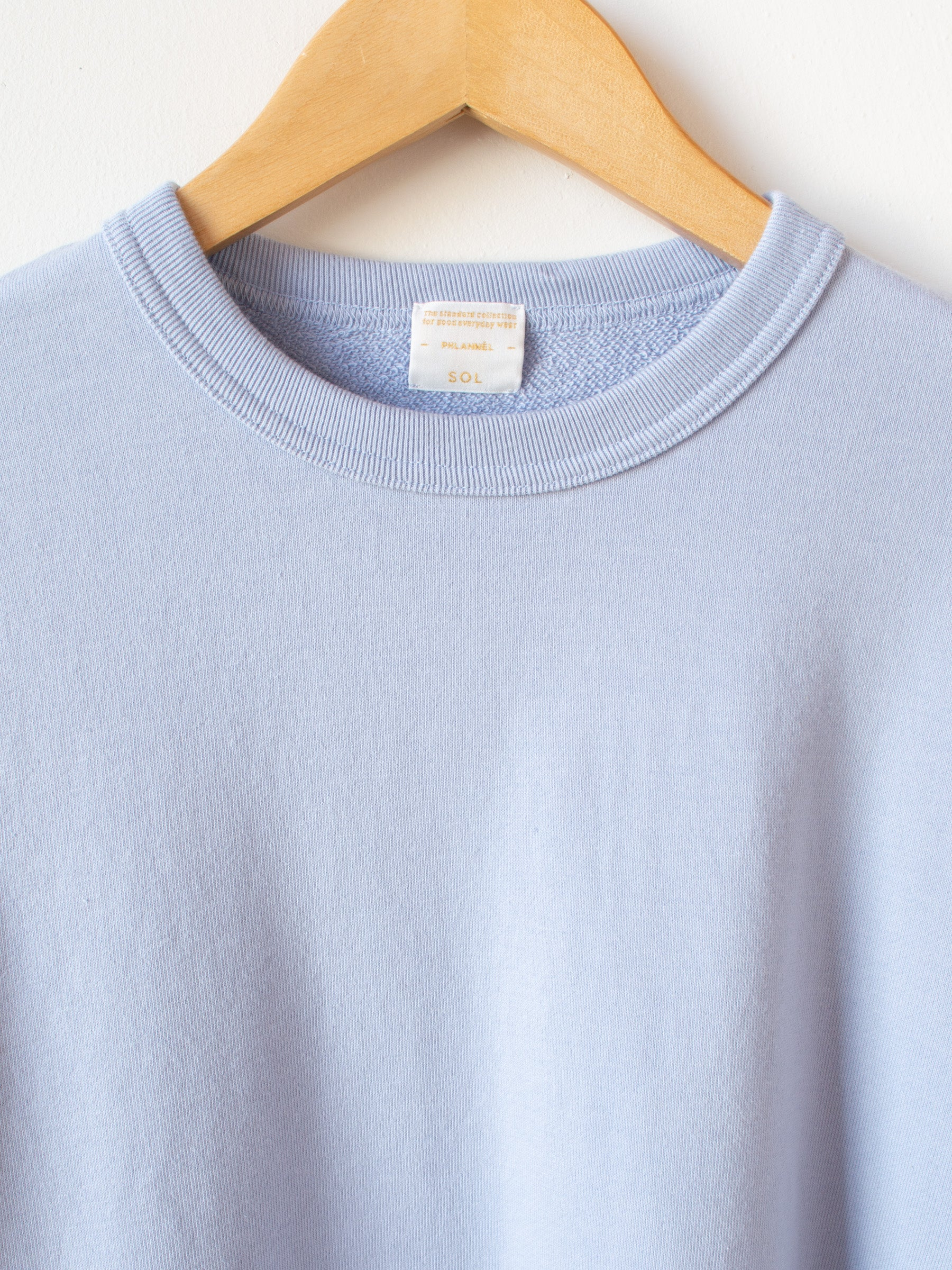 Suvin Cotton Sweatshirt - Sky Blue