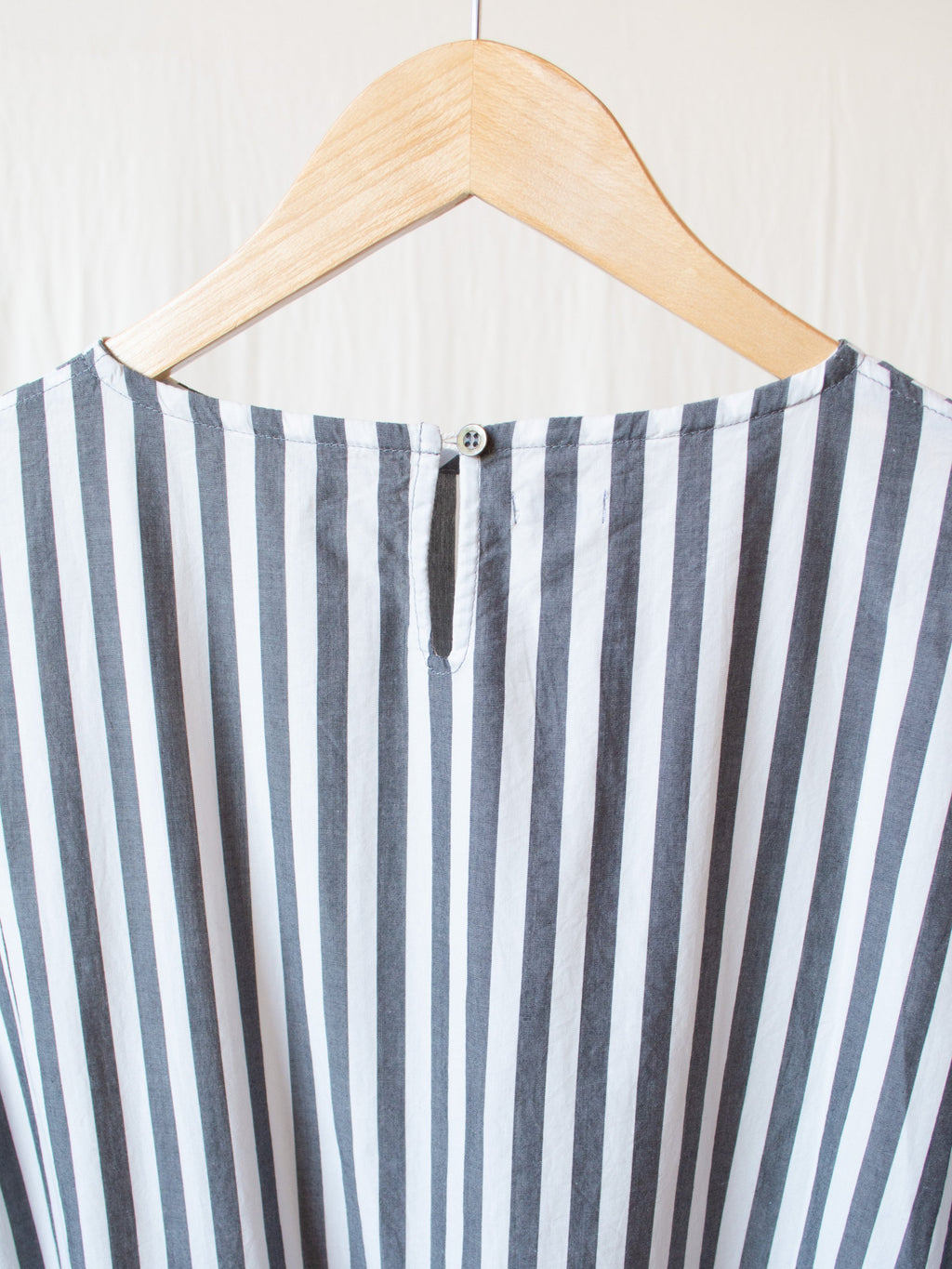 Namu Shop - Ichi Antiquites Cotton Dress - Charcoal Stripe