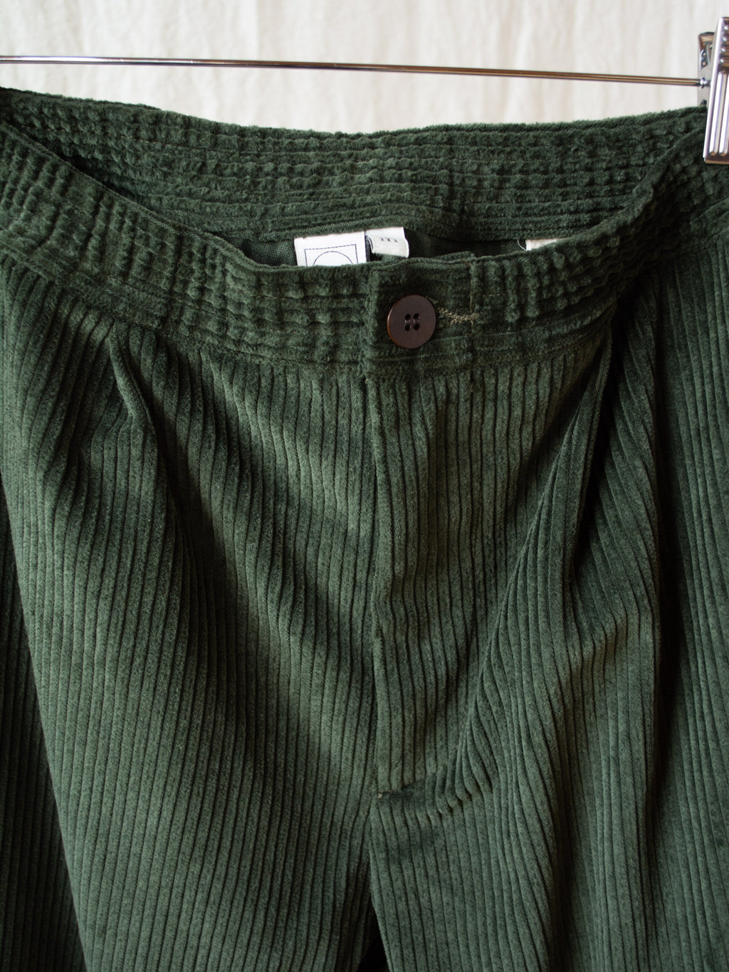 Extra Wide Wale Corduroy Trouser - Forest Green