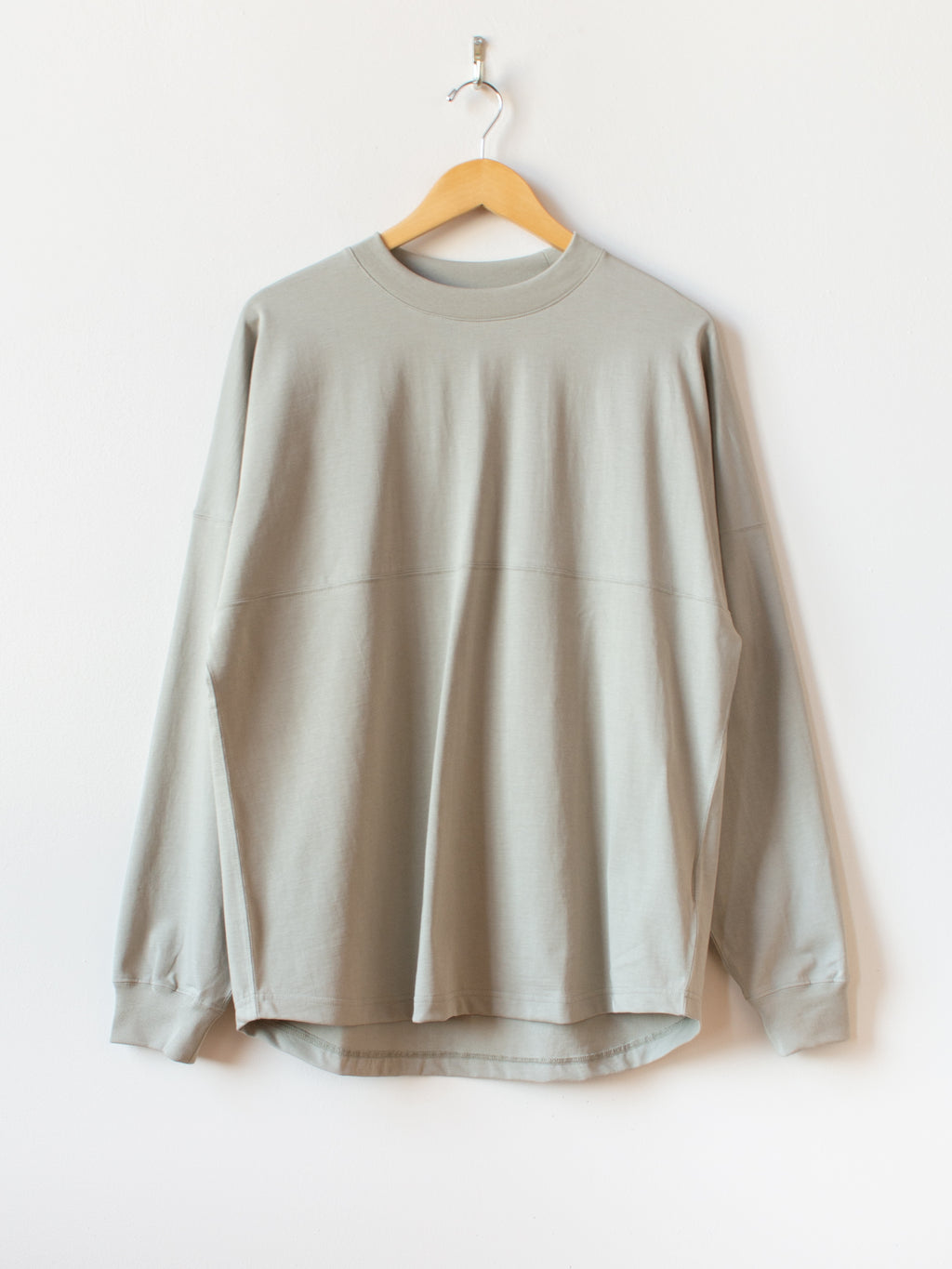 Organic Cotton L/S Tee - Smokey Green