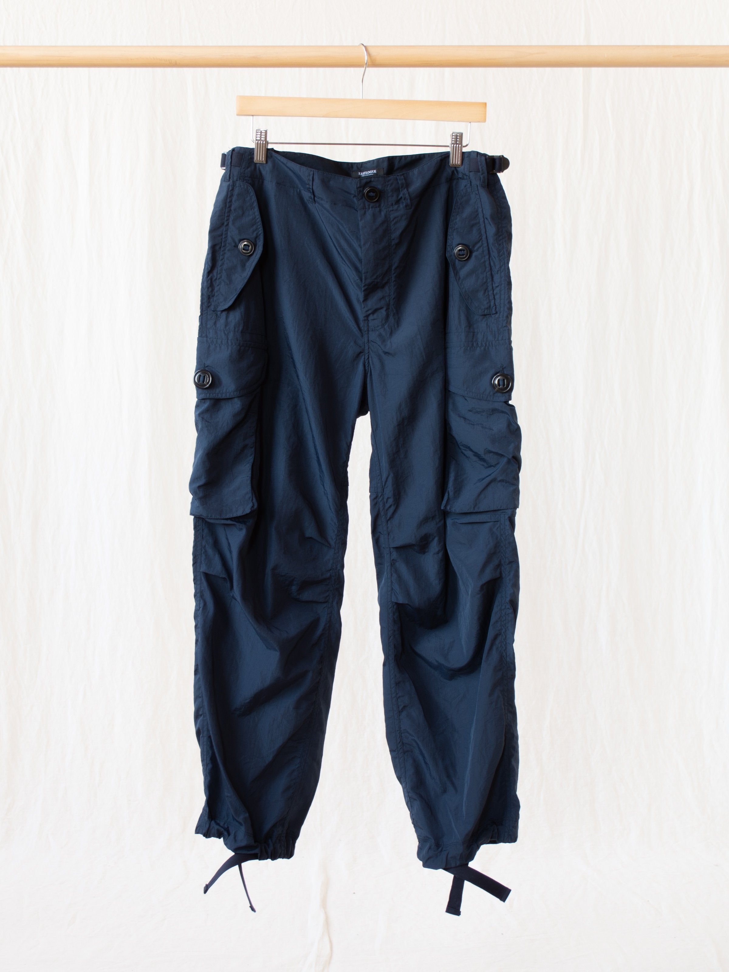Namu Shop - Eastlogue Combat Pants - Navy Nylon Washer