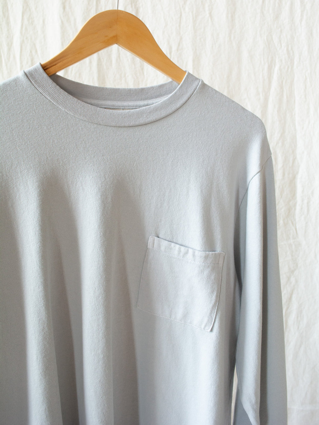 Namu Shop - paa LS Pocket Tee - Ice Gray