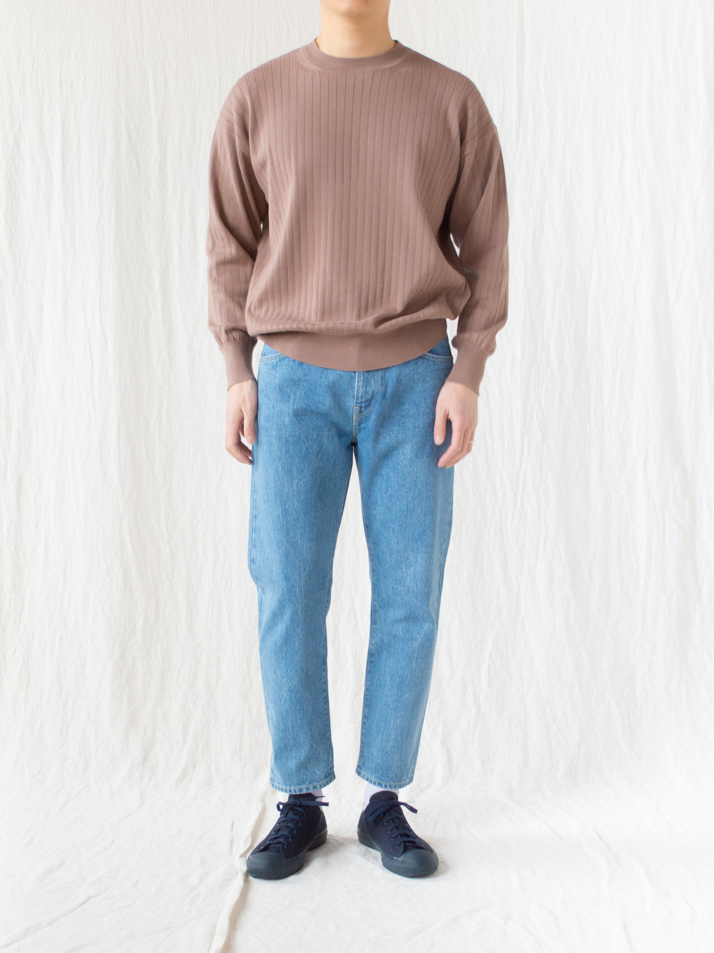 Namu Shop - Hatski Regular Tapered Denim - Ice Blue