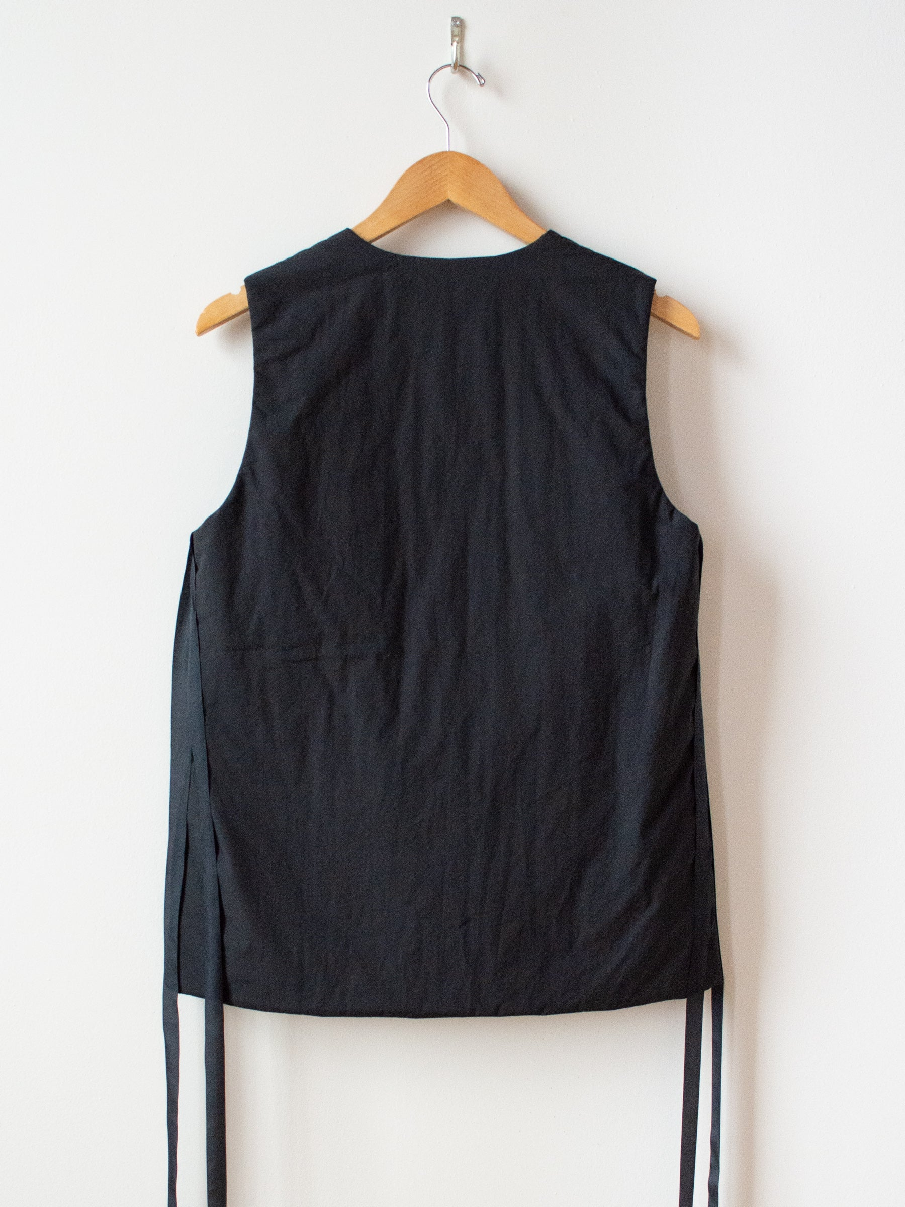 Typewriter Cotton Padded Vest - Black