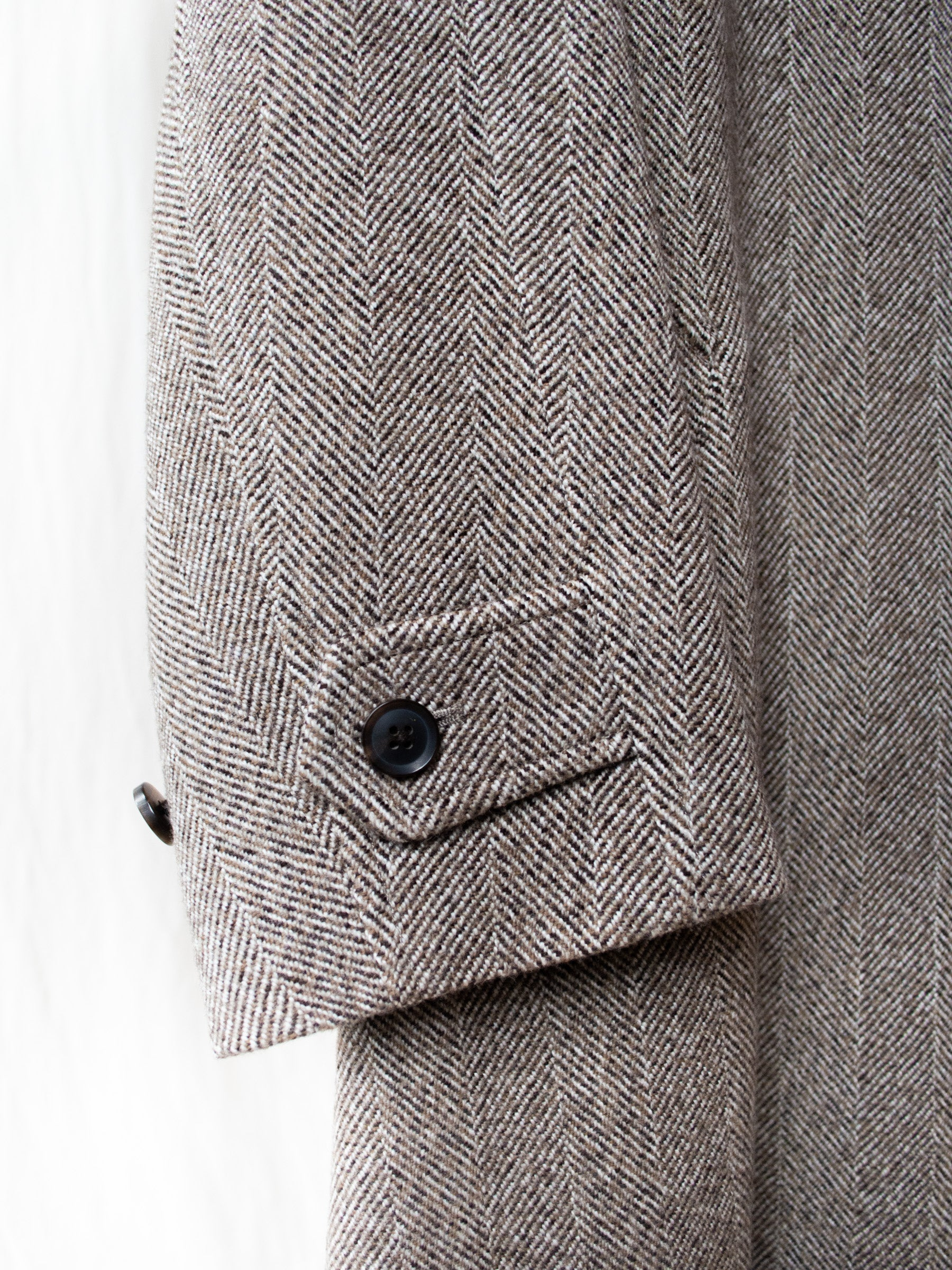 Arles Wool Tweed Balmacaan Coat
