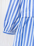 Namu Shop - Ichi Antiquites Cotton Dress - Blue Stripe