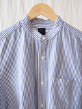 Stand Combi Shirt - Blue Stripe