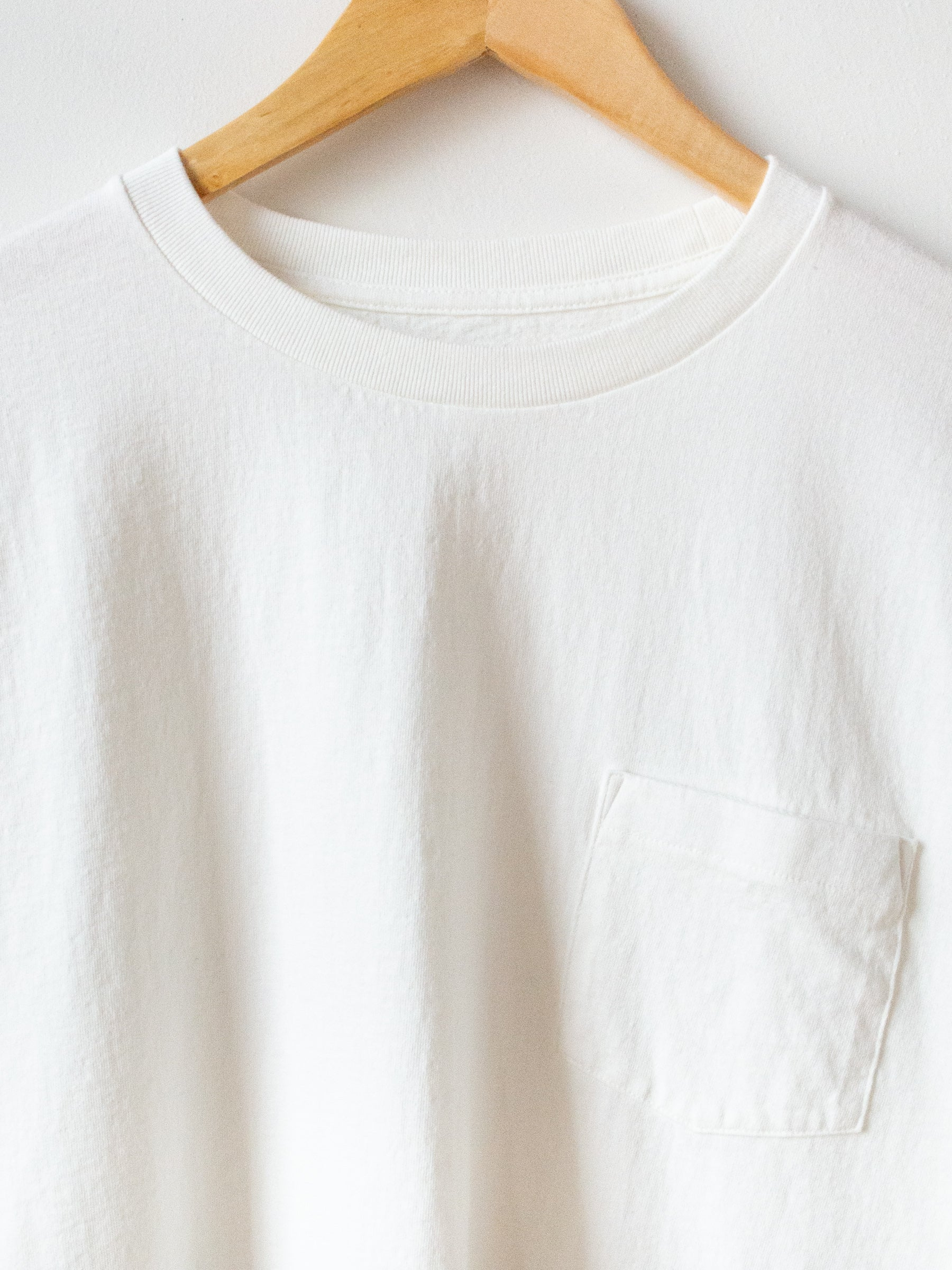 West Coast LS Tee - White x Sand Line