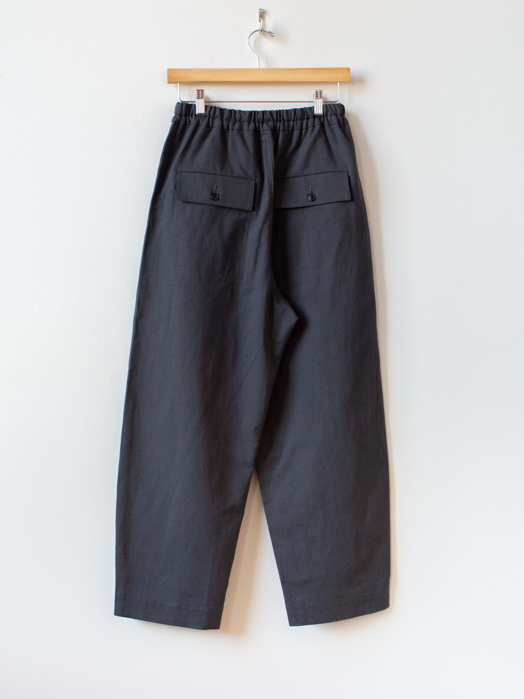 Cotton Linen Canvas Easy Trousers - Deep Gray