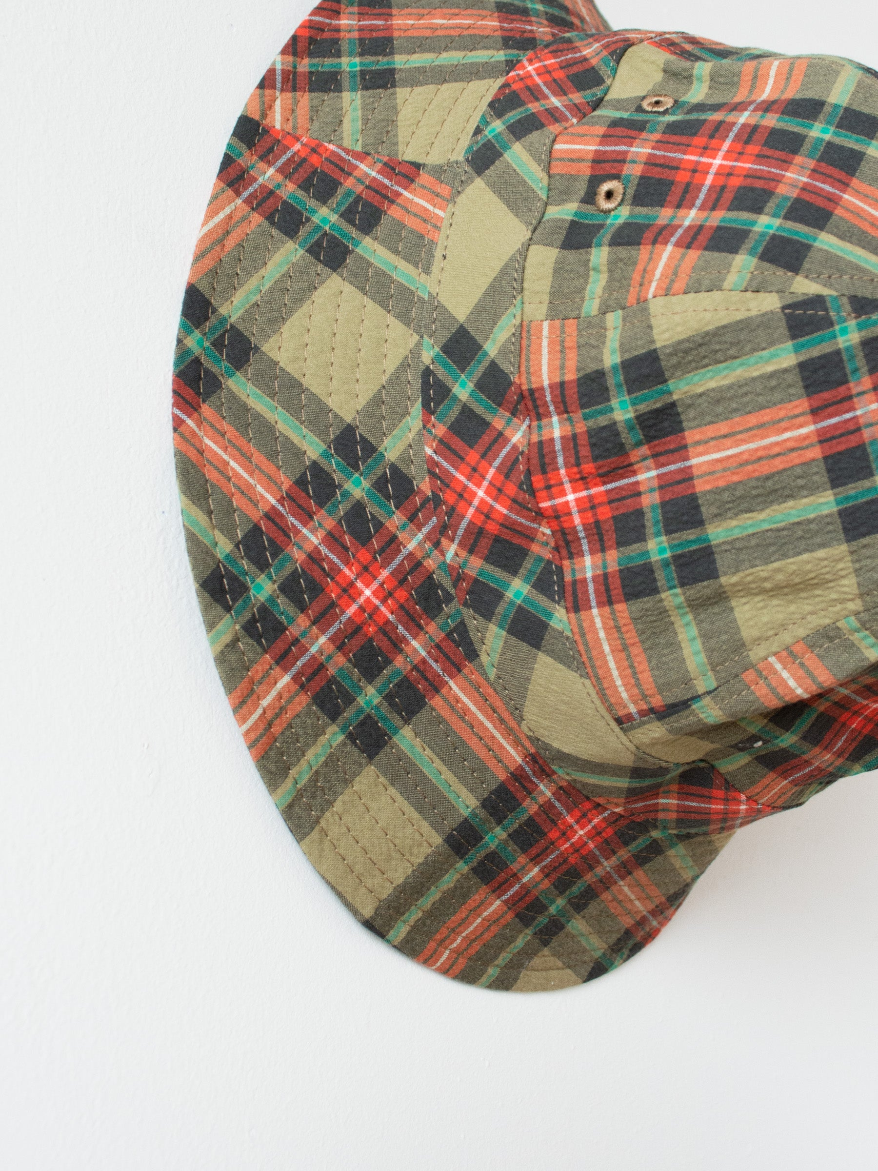 Bucket Hat - Beige Multi Check