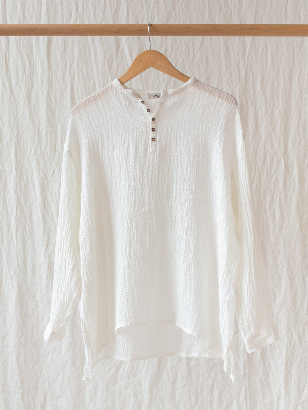 Namu Shop - Ichi Antiquites Linen Voile Blouse - White