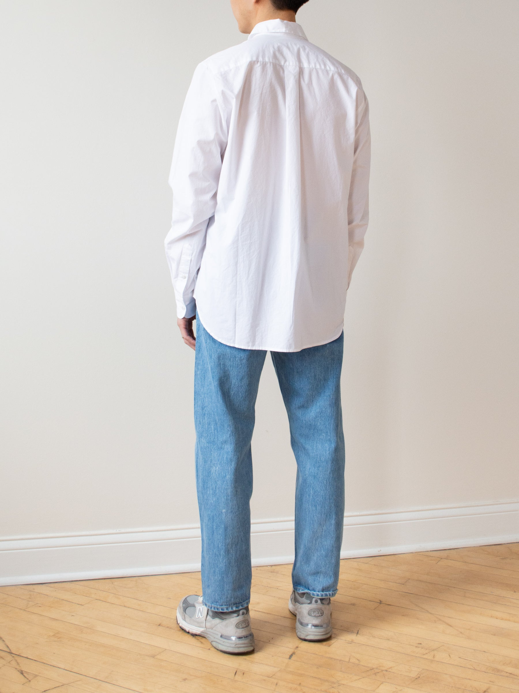 Chris Shirt - White Cotton Poplin