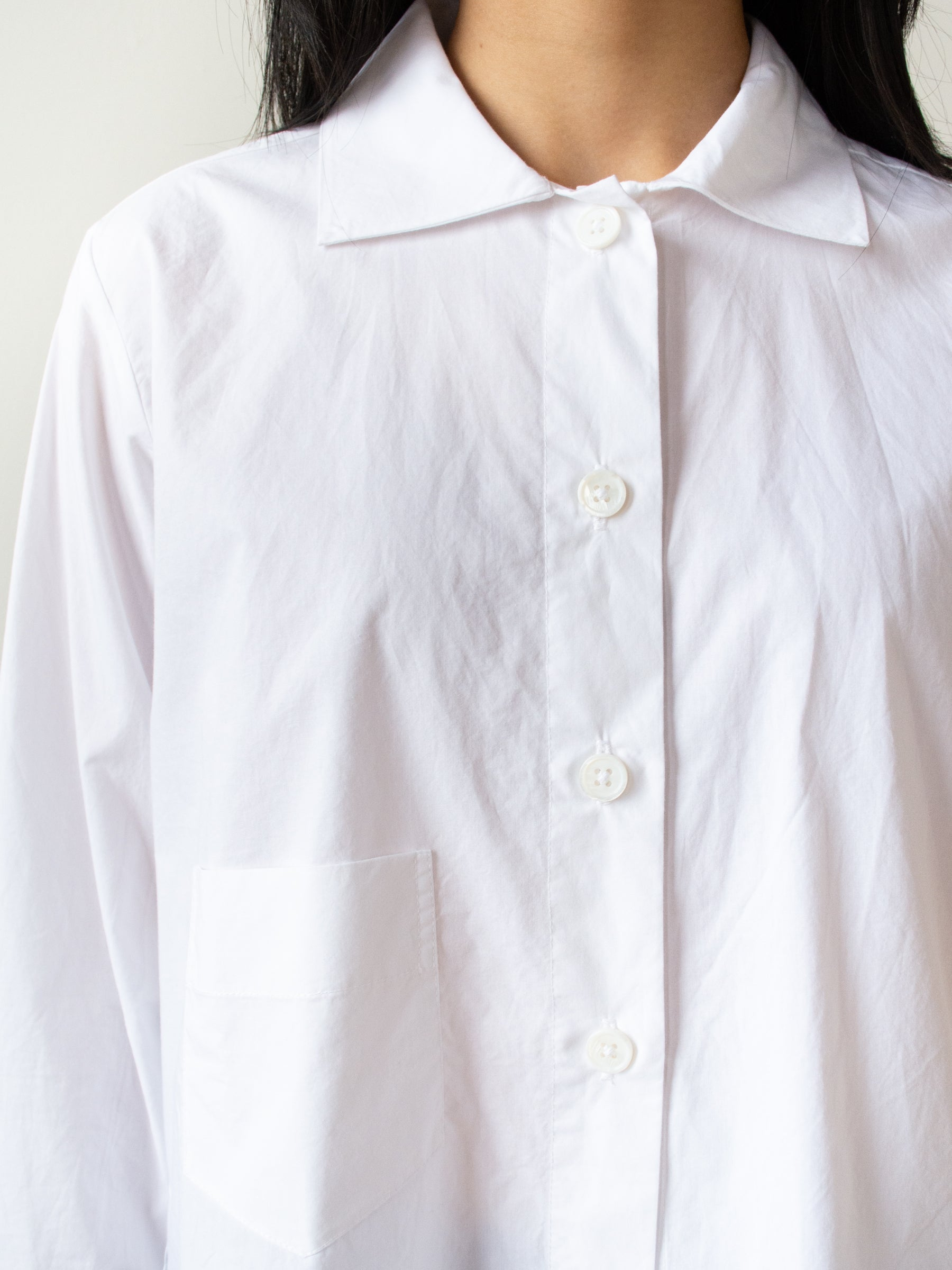 Kiki Shirt - White Cotton Poplin