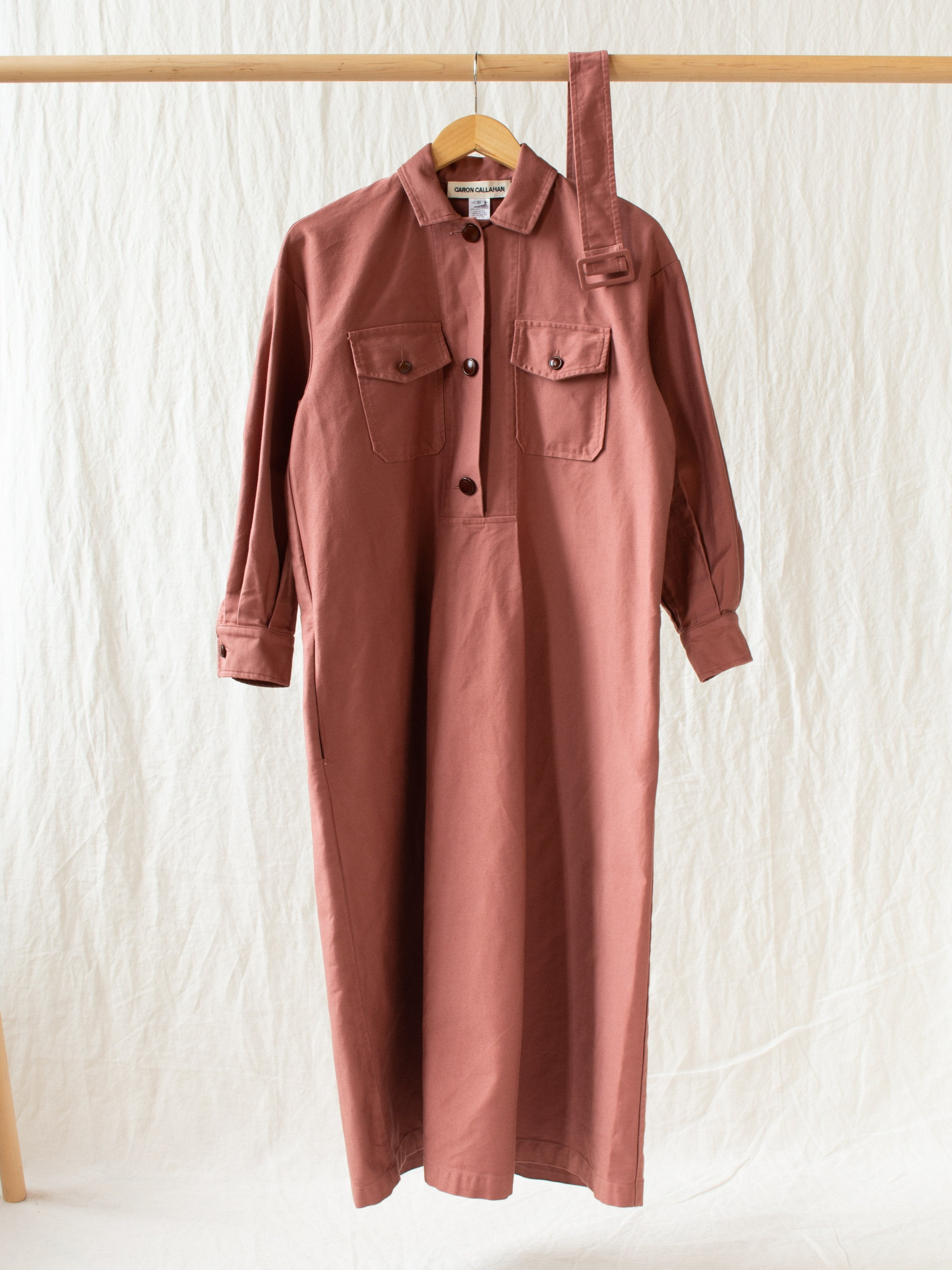Namu Shop - Caron Callahan Jasper Tunic Dress - Rose Cotton Twill