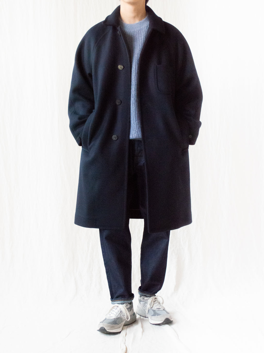 Wool Cashmere Heavy Melton Coat