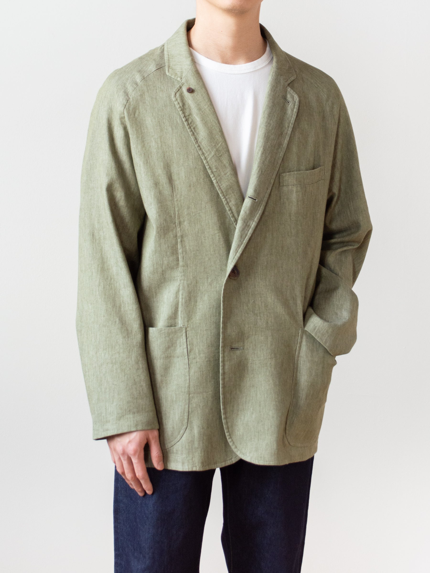 Co/Li Stretch Denim Raglan Jacket - Green