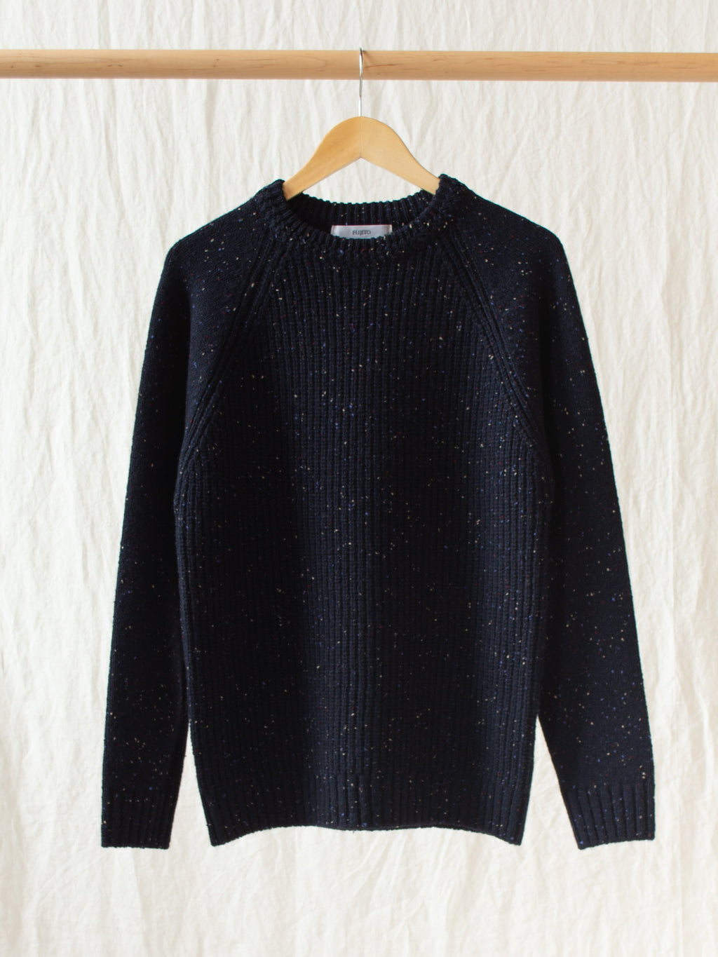 Namu Shop - Fujito Crewneck Rib Sweater - Navy Speckle