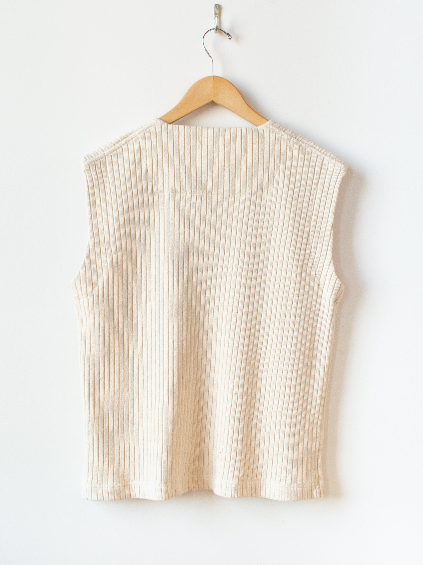 Wide Rib Easy Vest - Natural