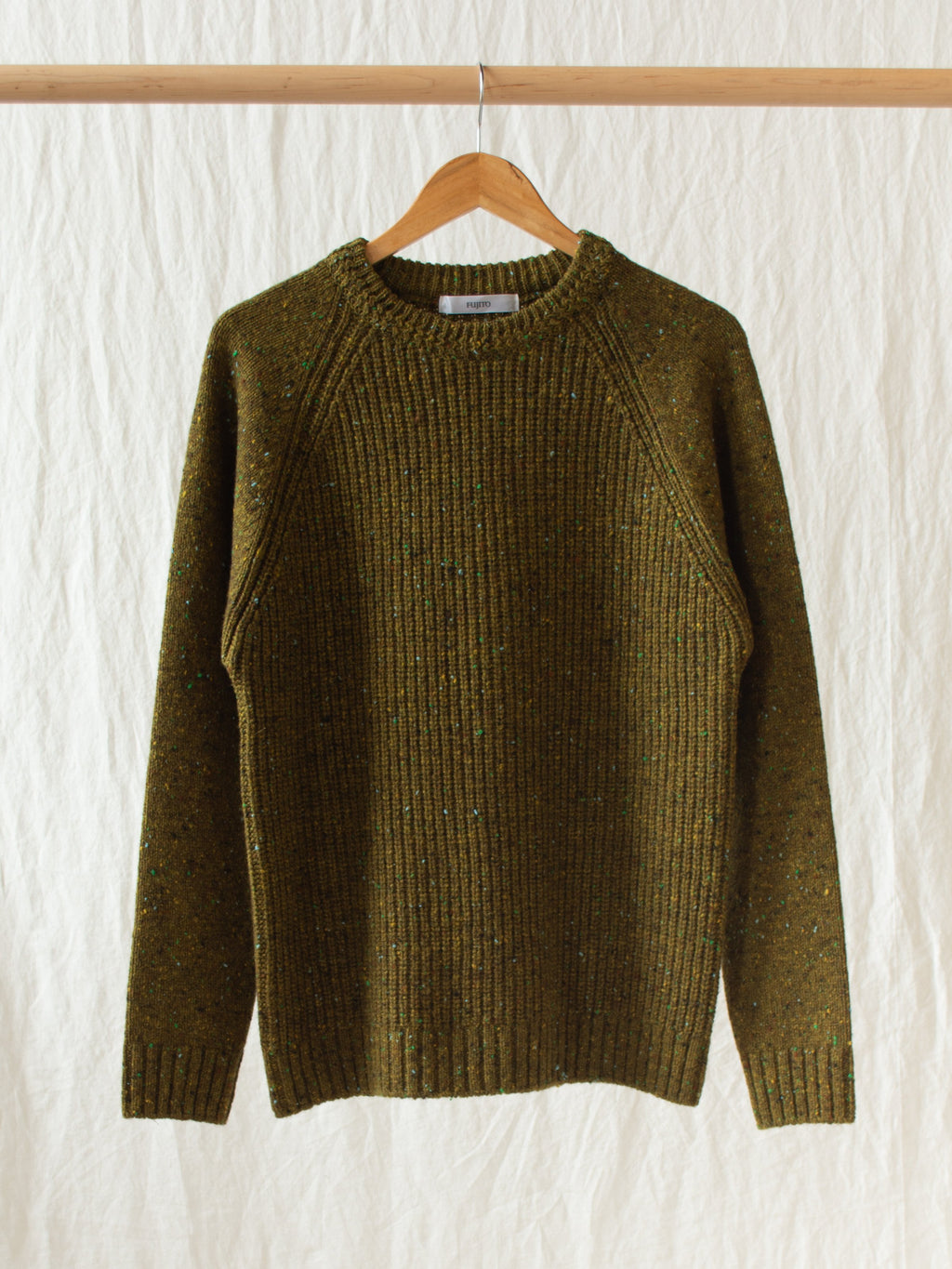 Crewneck Rib Sweater - Moss Speckle (re-stocked)