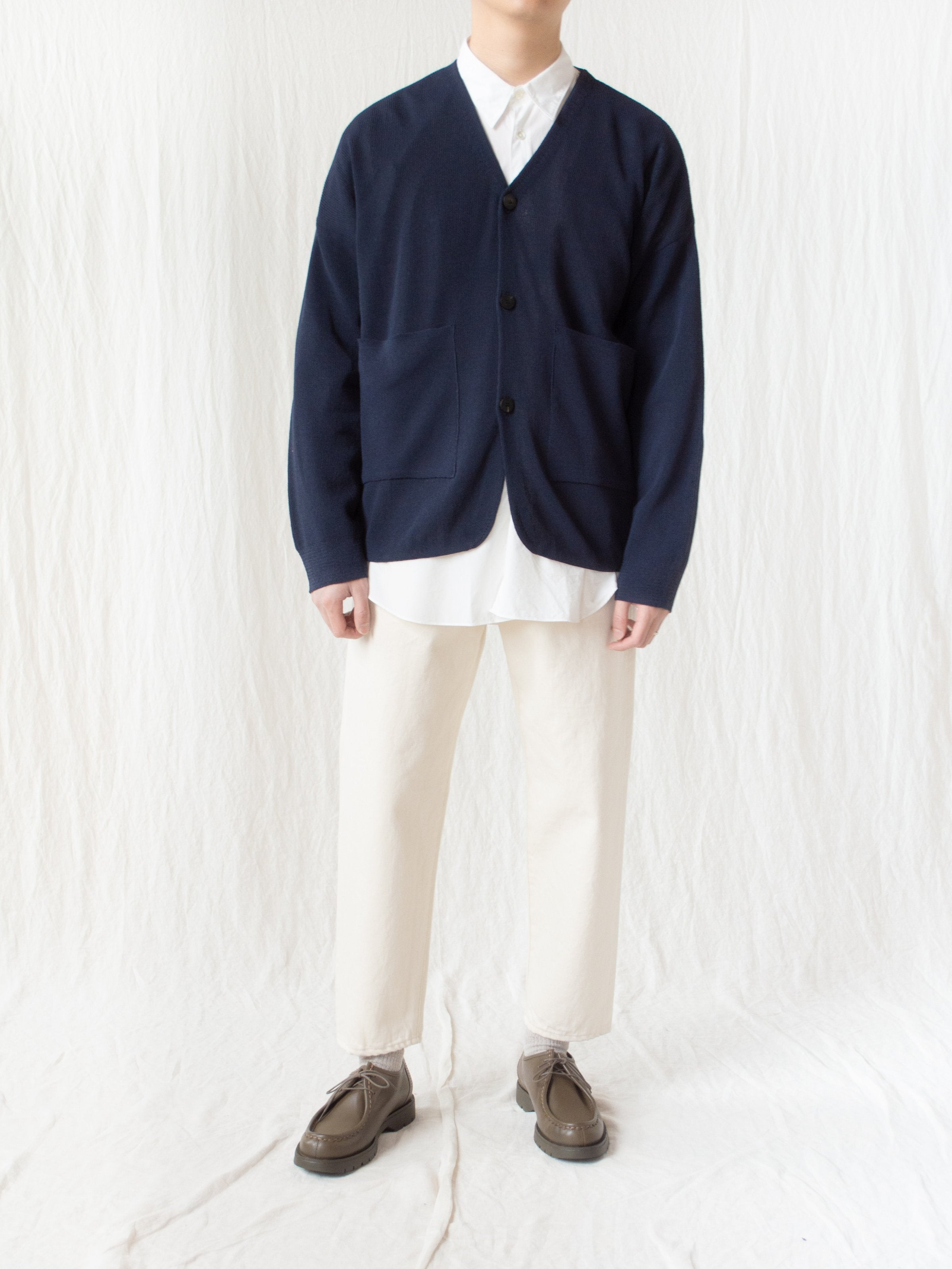 Namu Shop - Document Hanji Paper Relaxed Cardigan