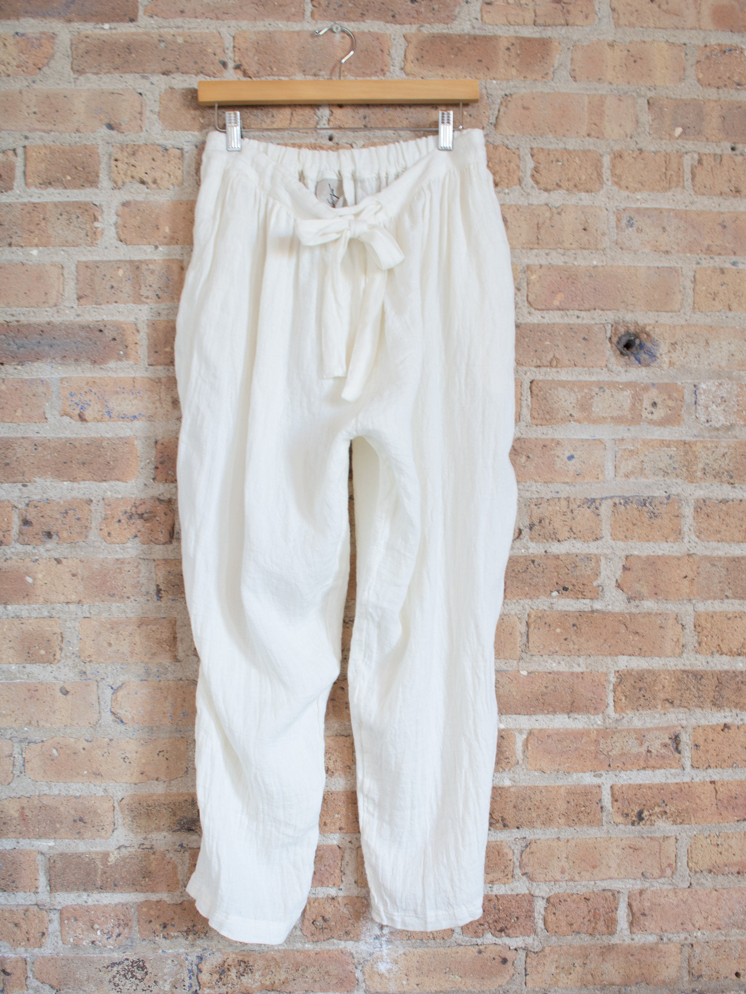 Namu Shop - Ichi Antiquites AZUMADAKI Linen Pants - White