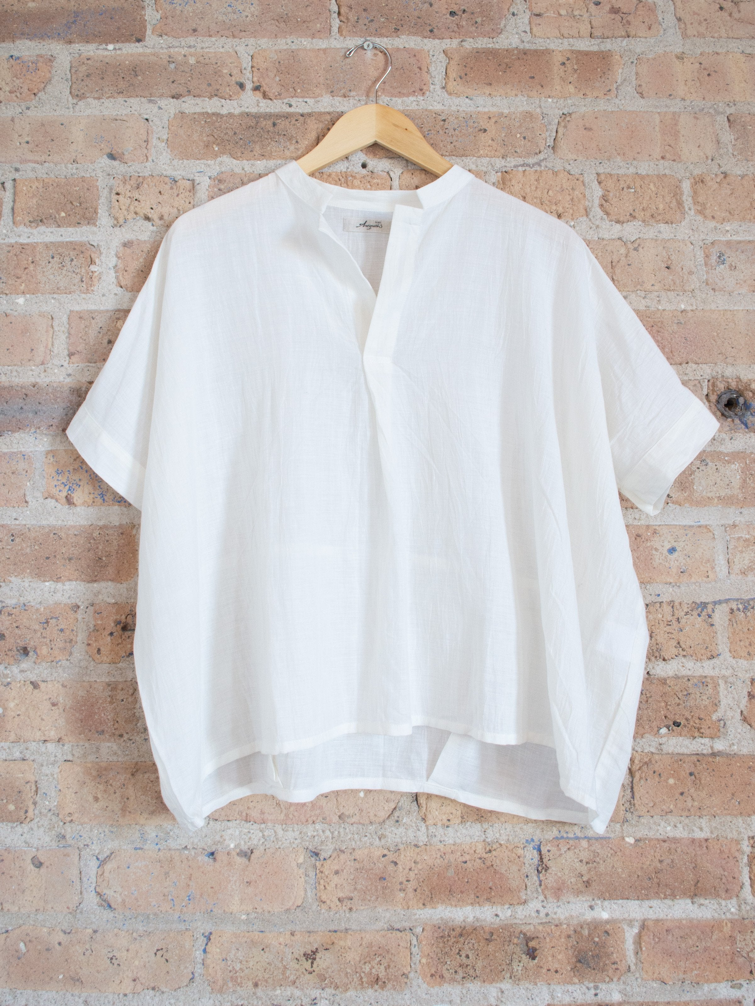 Namu Shop - Ichi Antiquites Cotton Linen Blouse - White