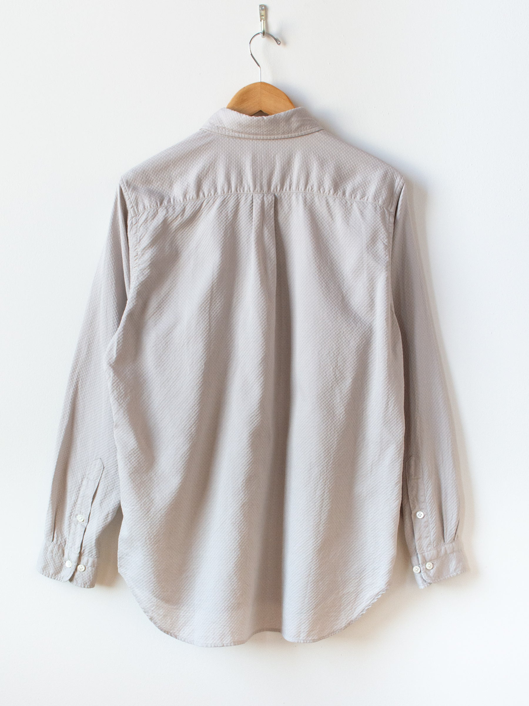 Garment Dyed Dobby Cloth BD Shirt - Greige